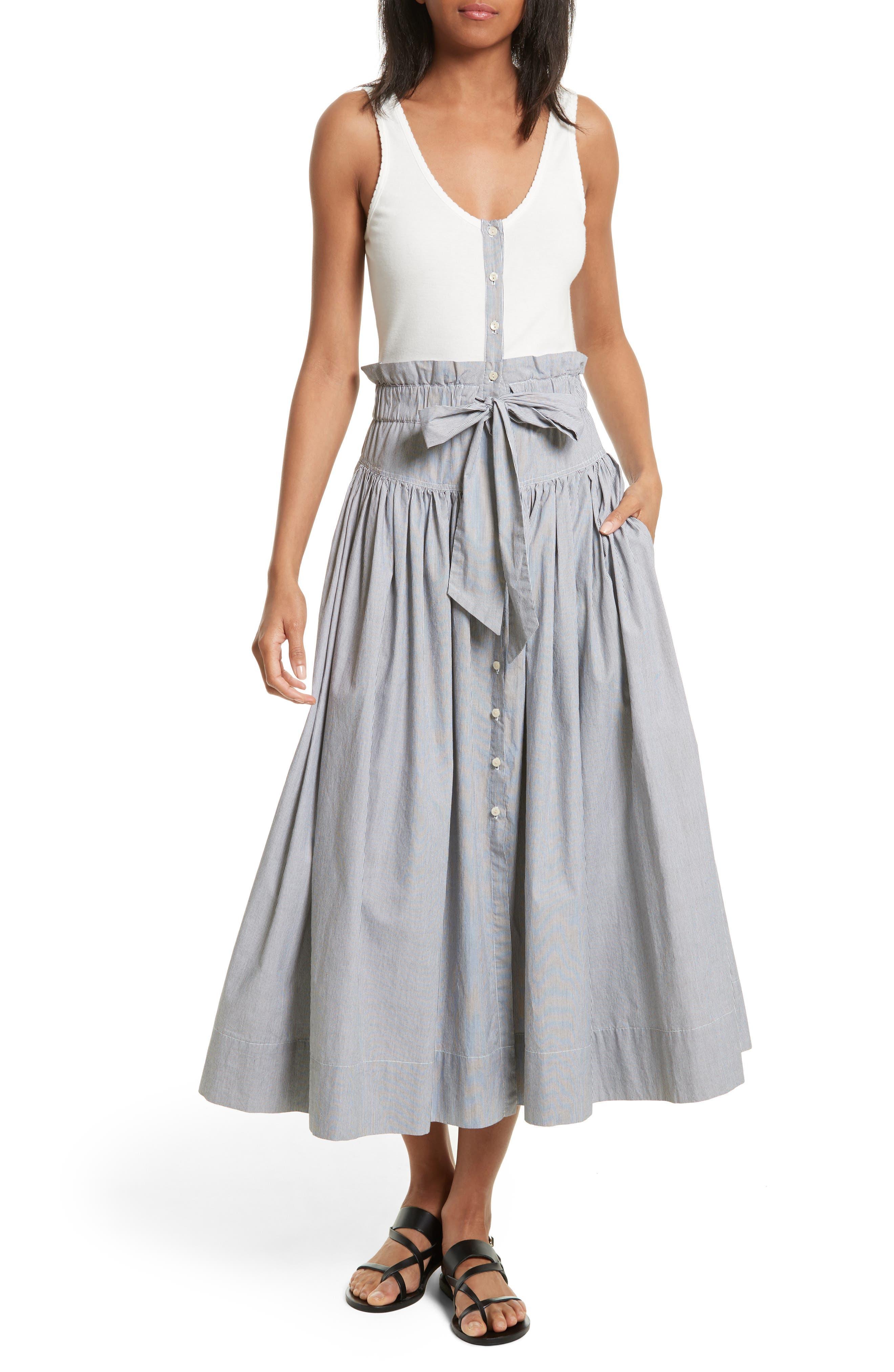 La Vie Rebecca Taylor Knit & Poplin Midi Dress
