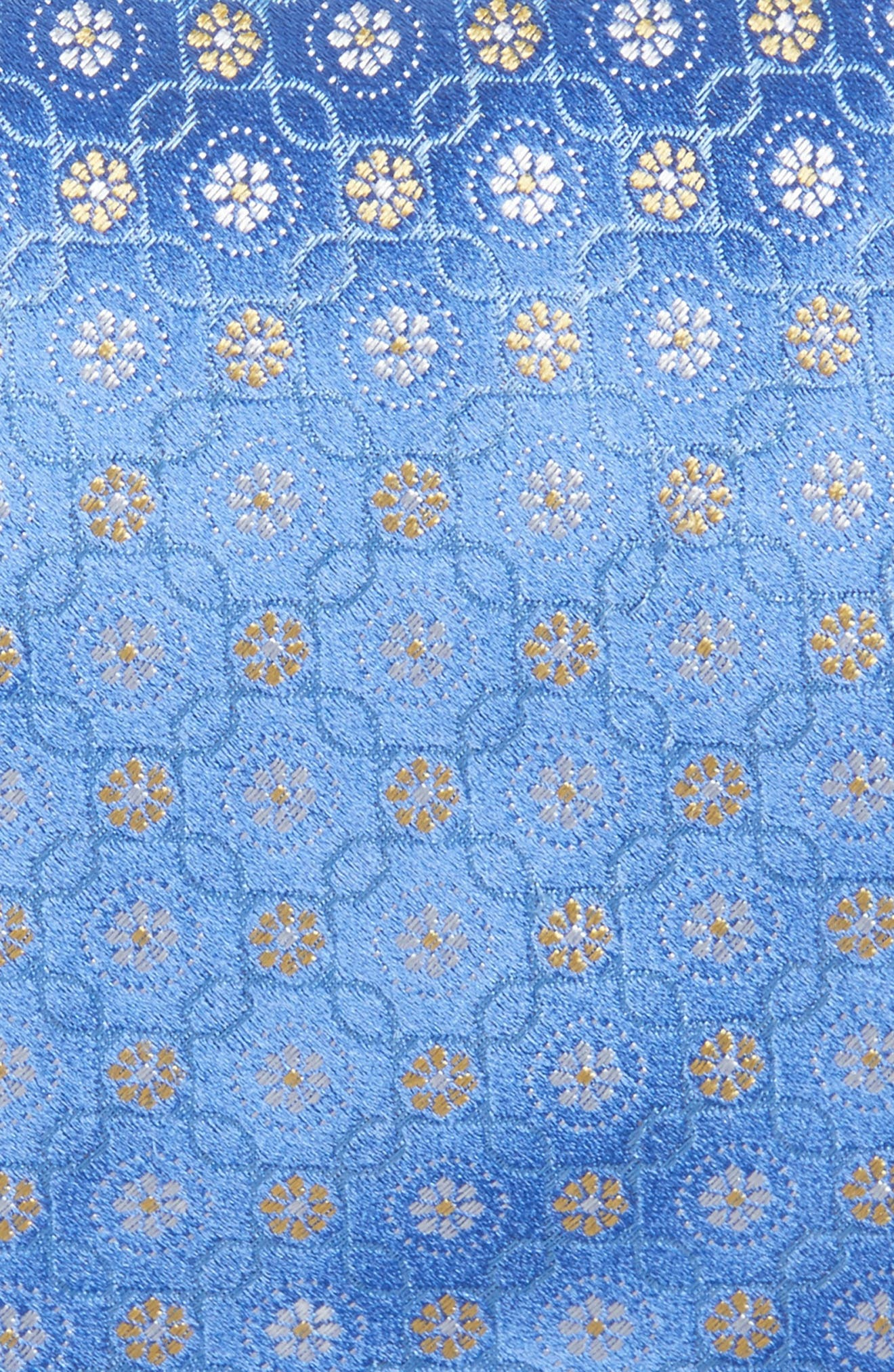 Medallion Silk Tie,                             Alternate thumbnail 2, color,                             Medium Blue