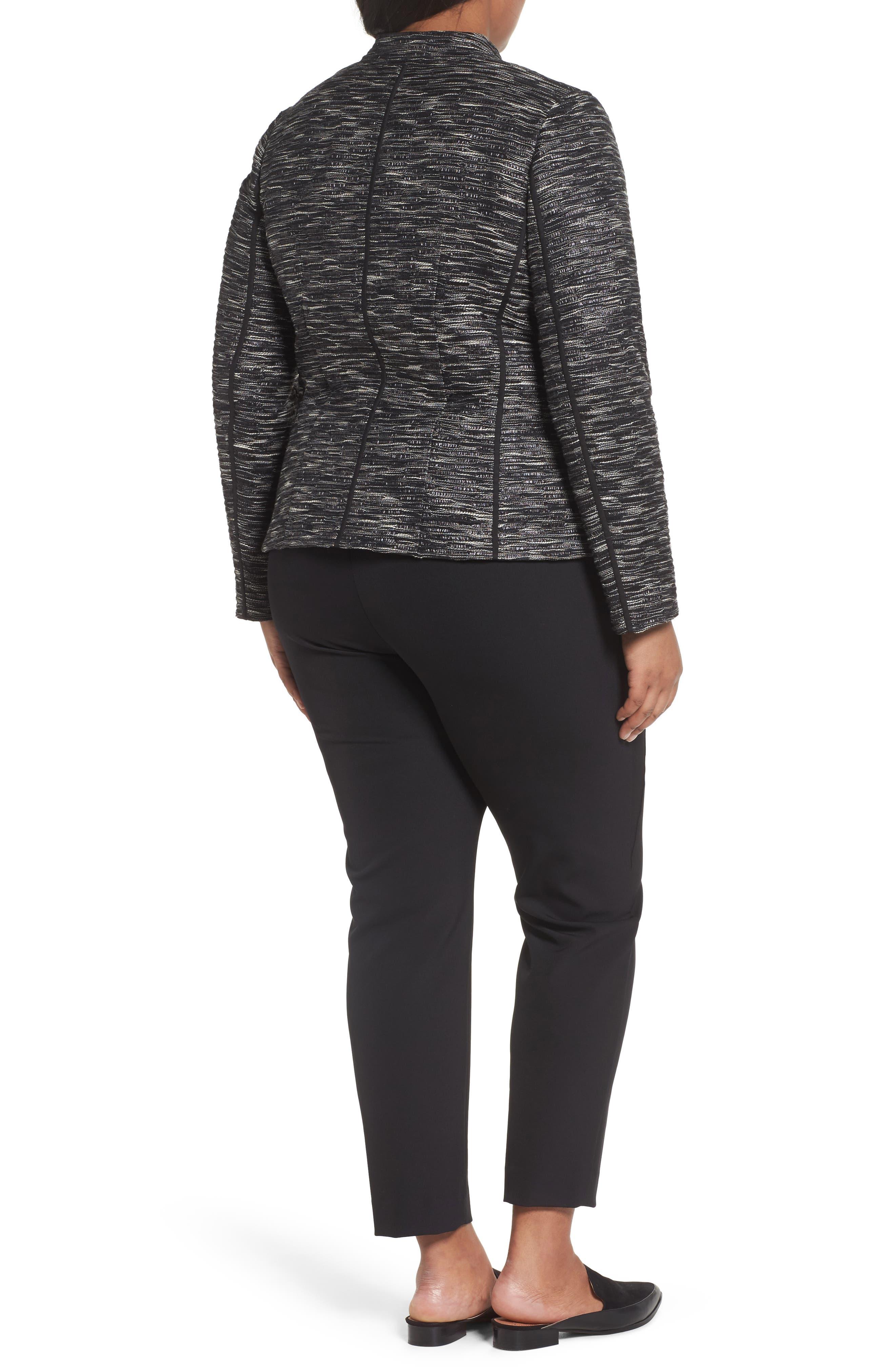 Meryl Zip Front Jacket,                             Alternate thumbnail 2, color,                             Black Multi