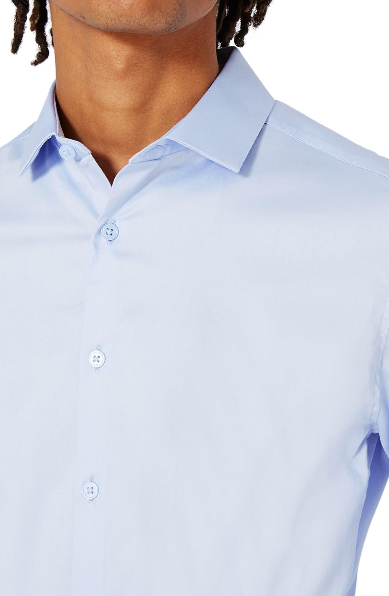 Alternate Image 5  - Topman Stretch Cotton Shirt
