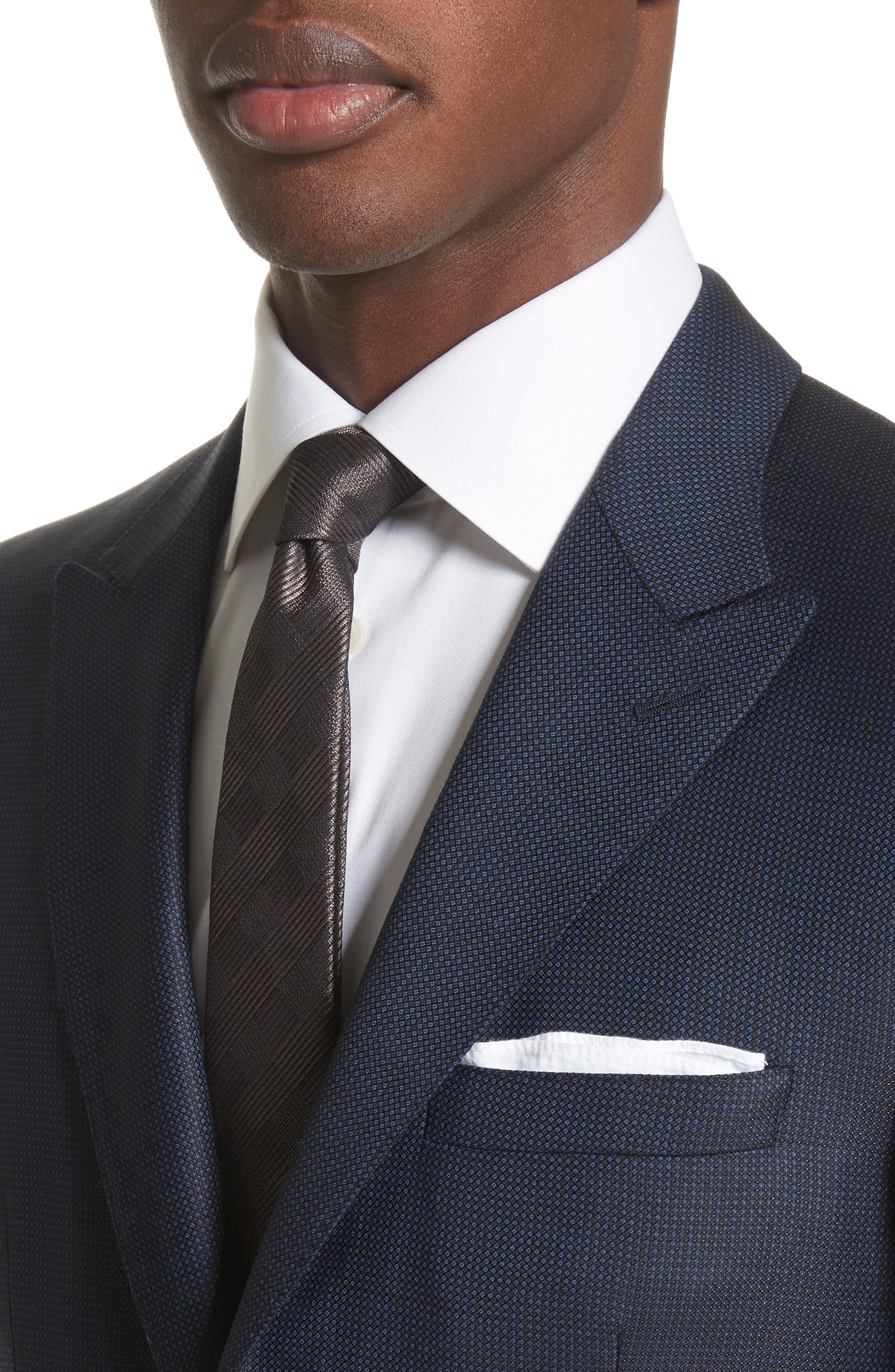 Alternate Image 5  - Burberry Millbank Trim Fit Wool & Silk Suit