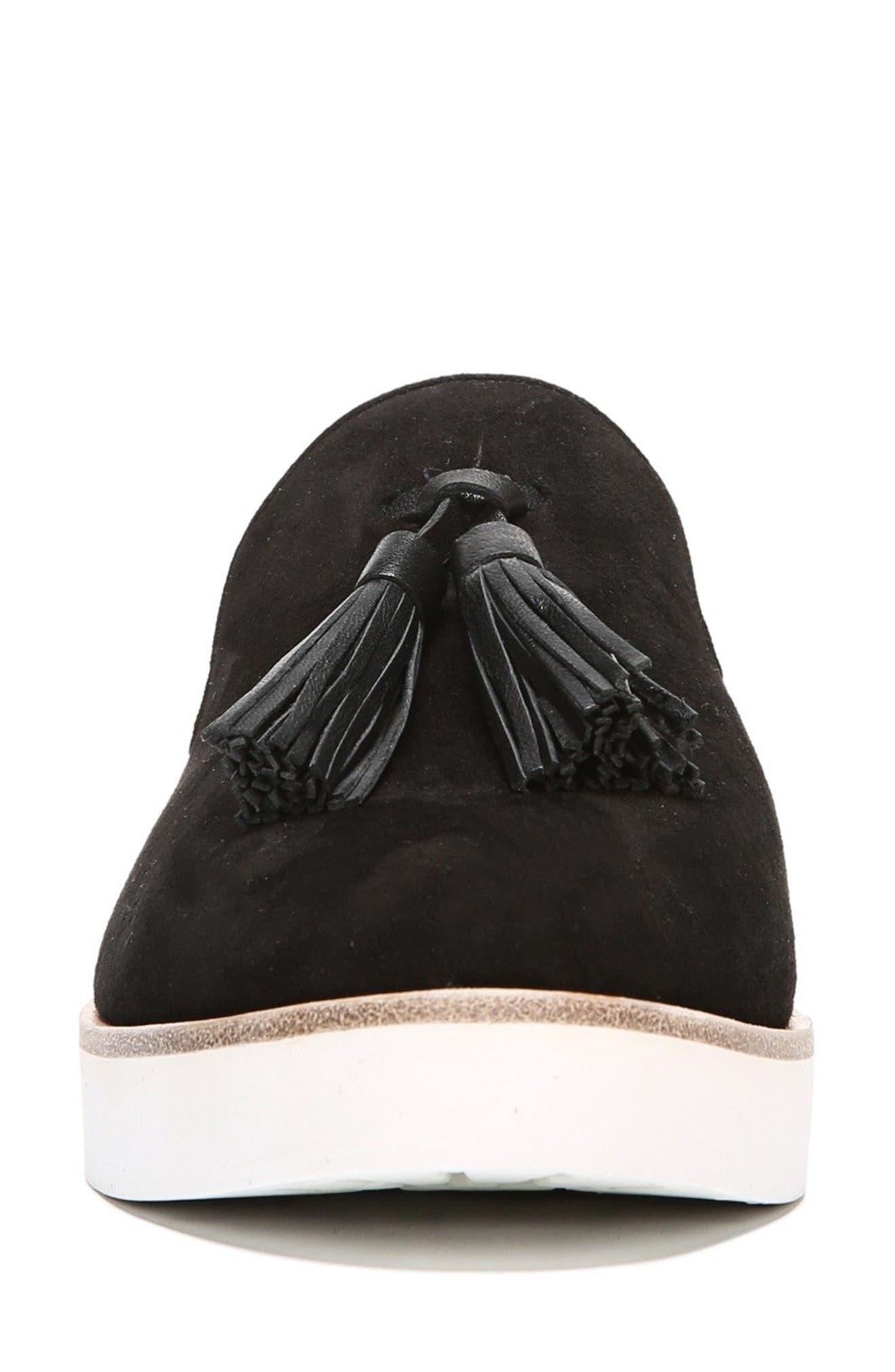 Toni Slip-On Sneaker,                             Alternate thumbnail 4, color,                             Black Suede