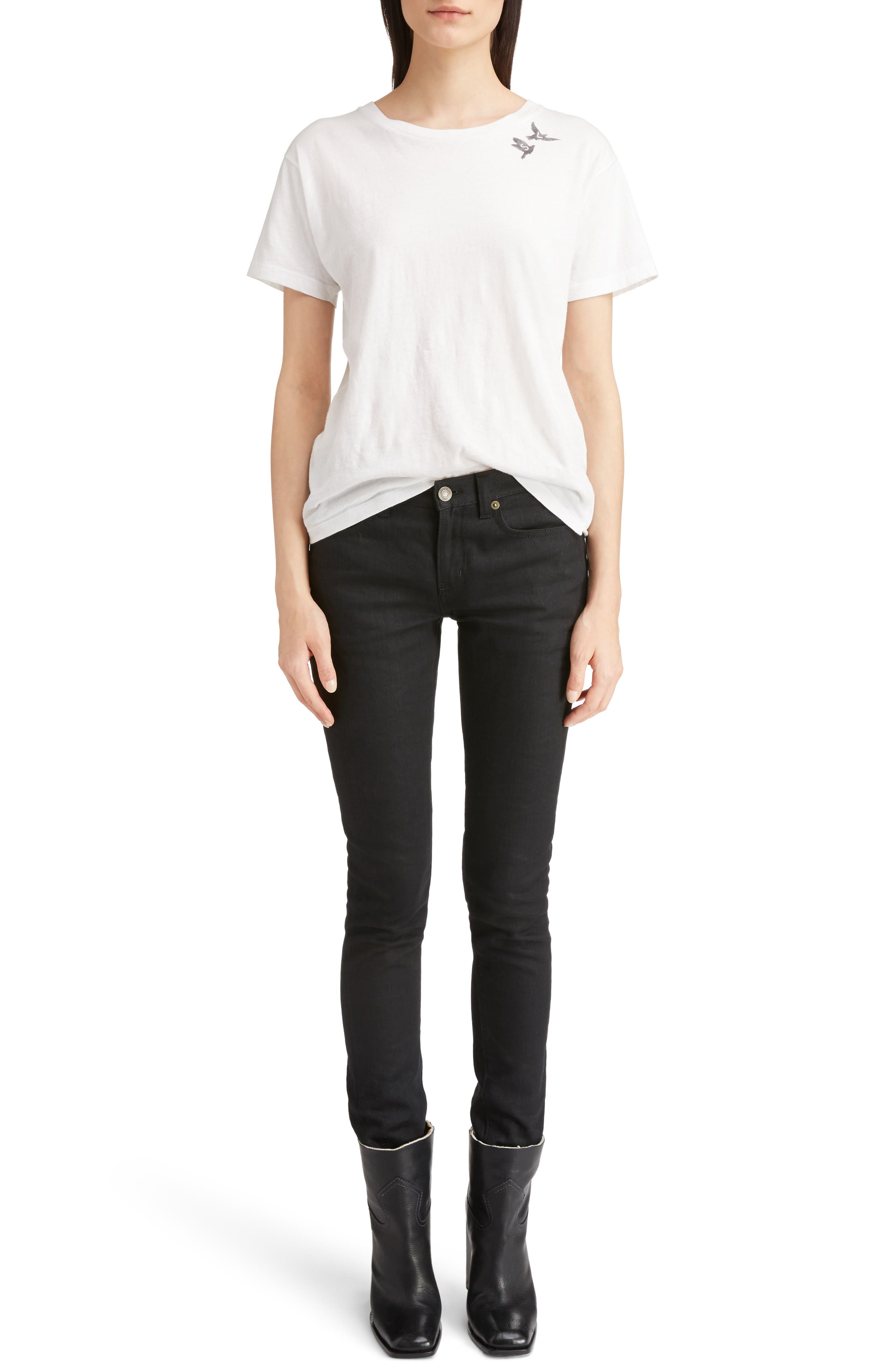 Alternate Image 10  - Saint Laurent High Waist Skinny Jeans