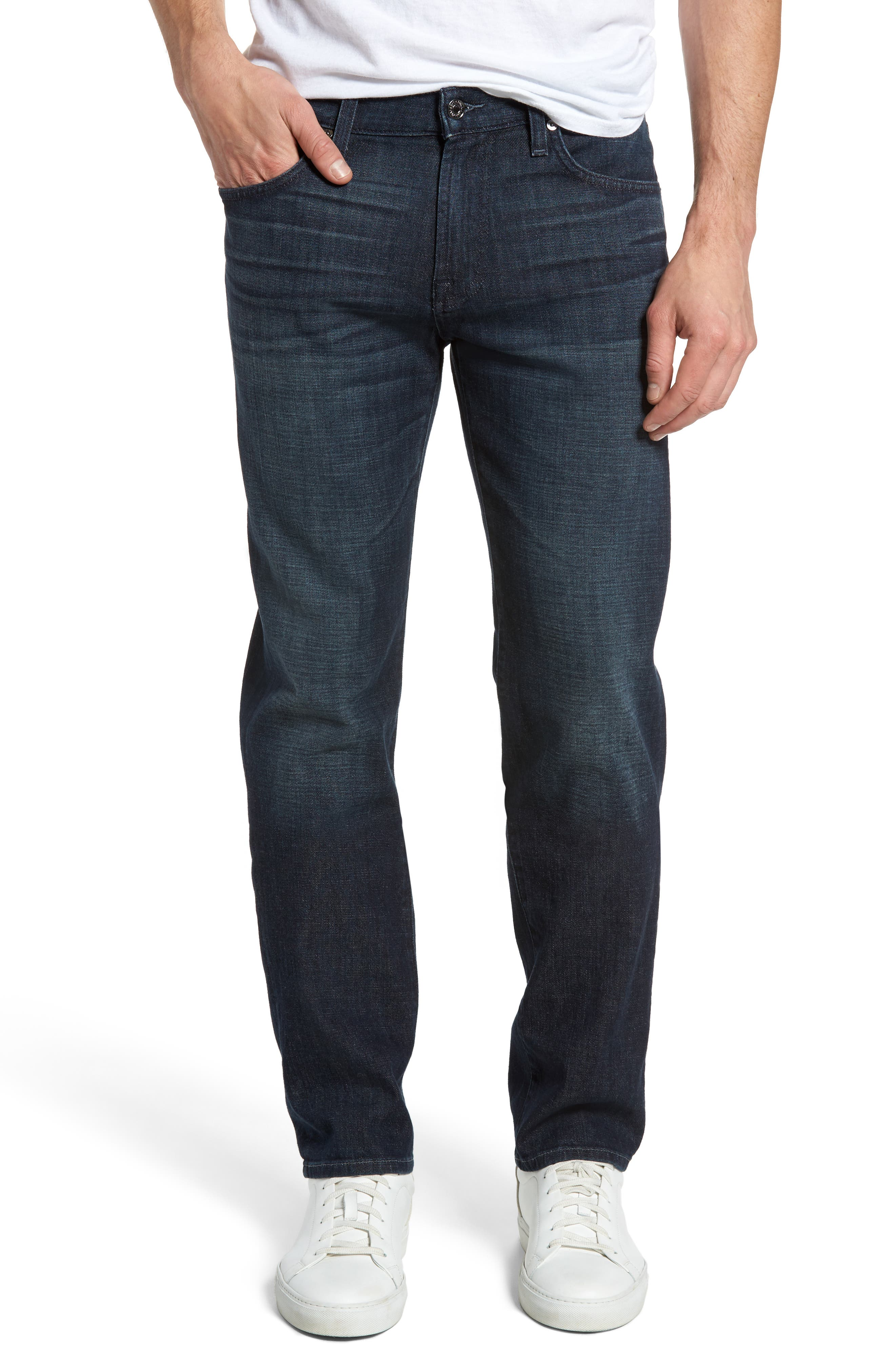 Main Image - 7 For All Mankind® Standard Straight Leg Jeans (Amboise)