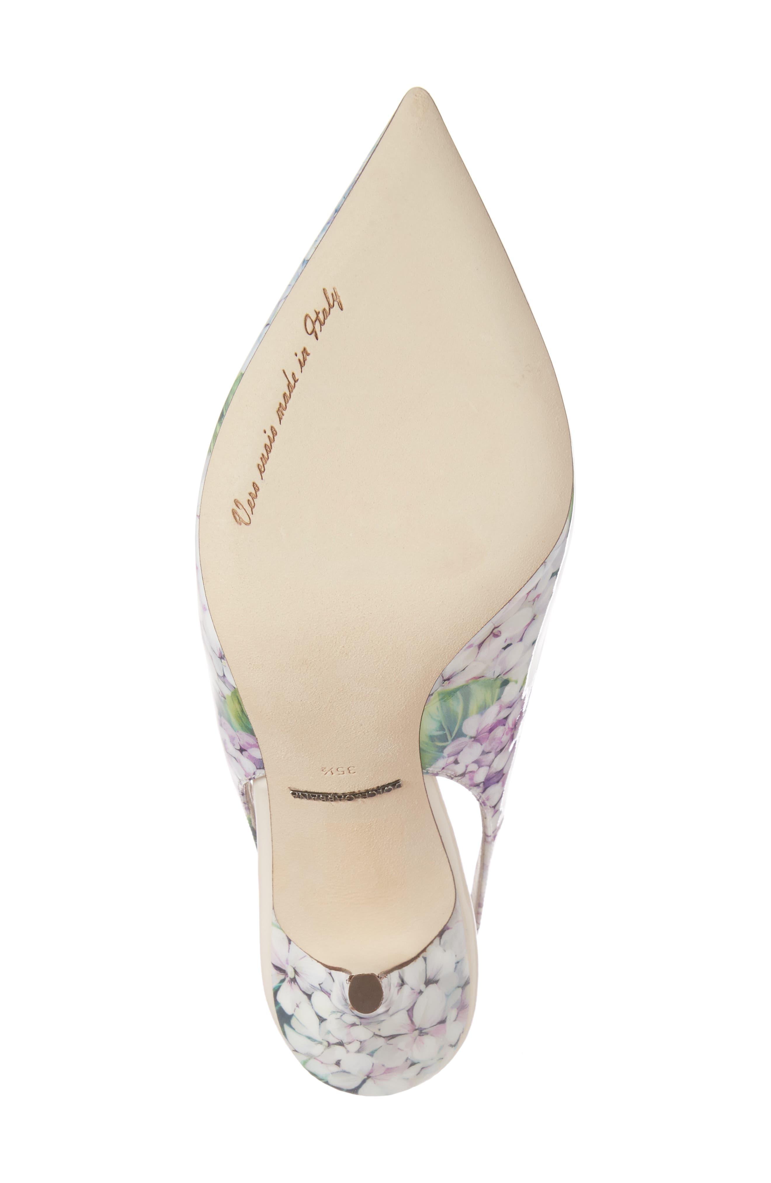 Hydrangea Slingback Sandal,                             Alternate thumbnail 6, color,                             White Floral
