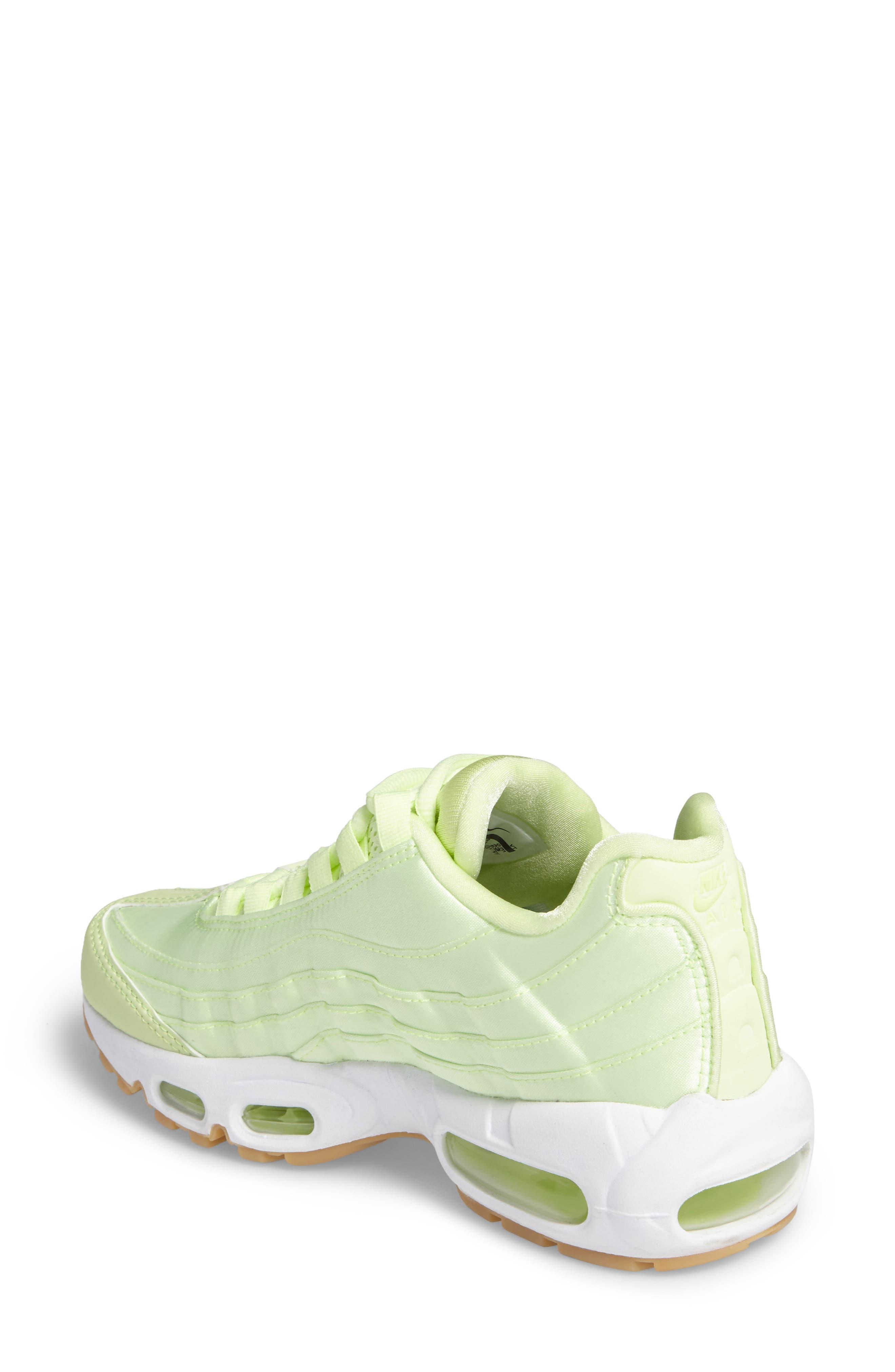 Air Max 95 QS Running Shoe,                             Alternate thumbnail 2, color,                             Liquid Lime/ Liquid Lime