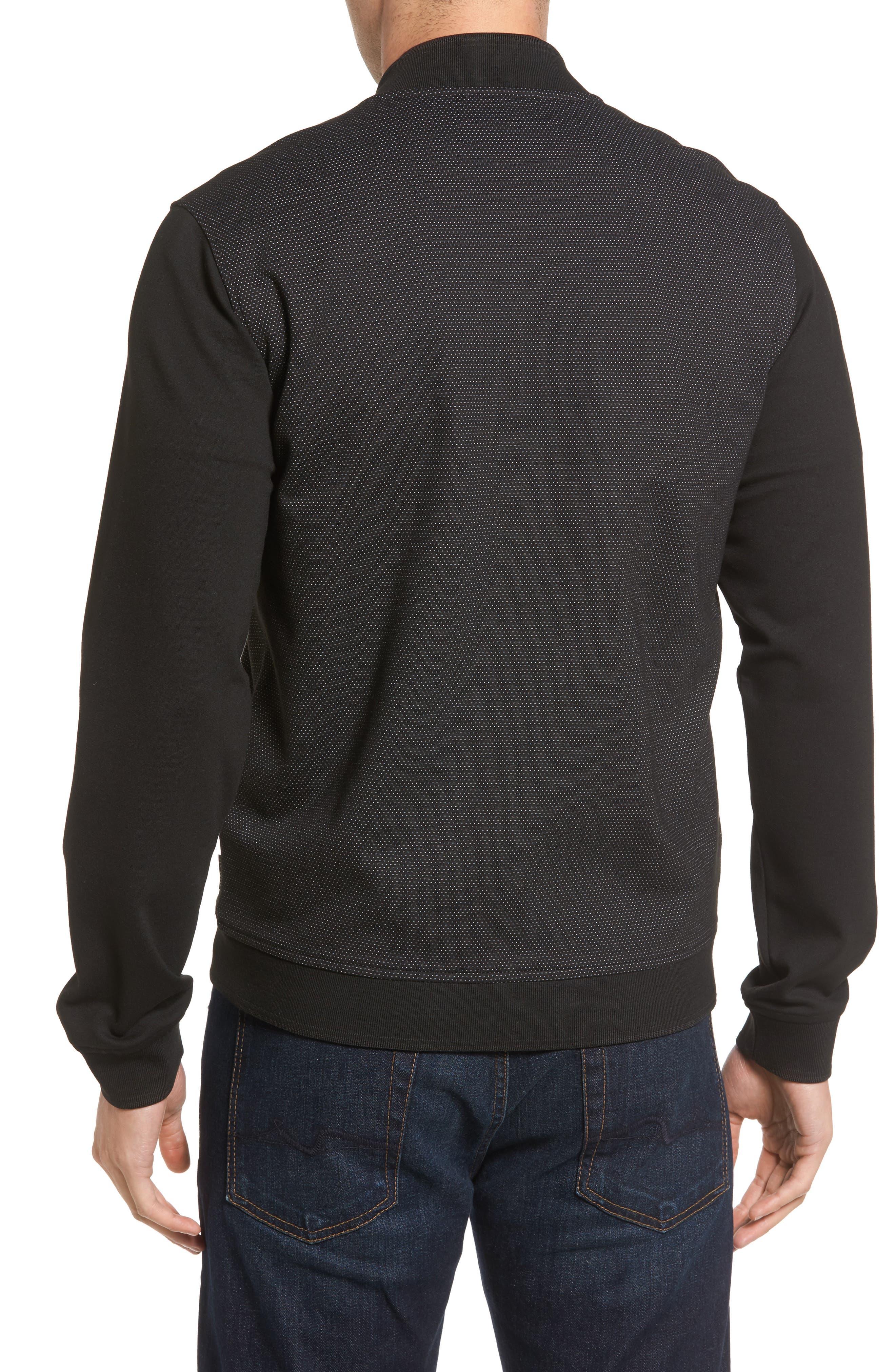 Badford Baseball Jacket,                             Alternate thumbnail 2, color,                             Black