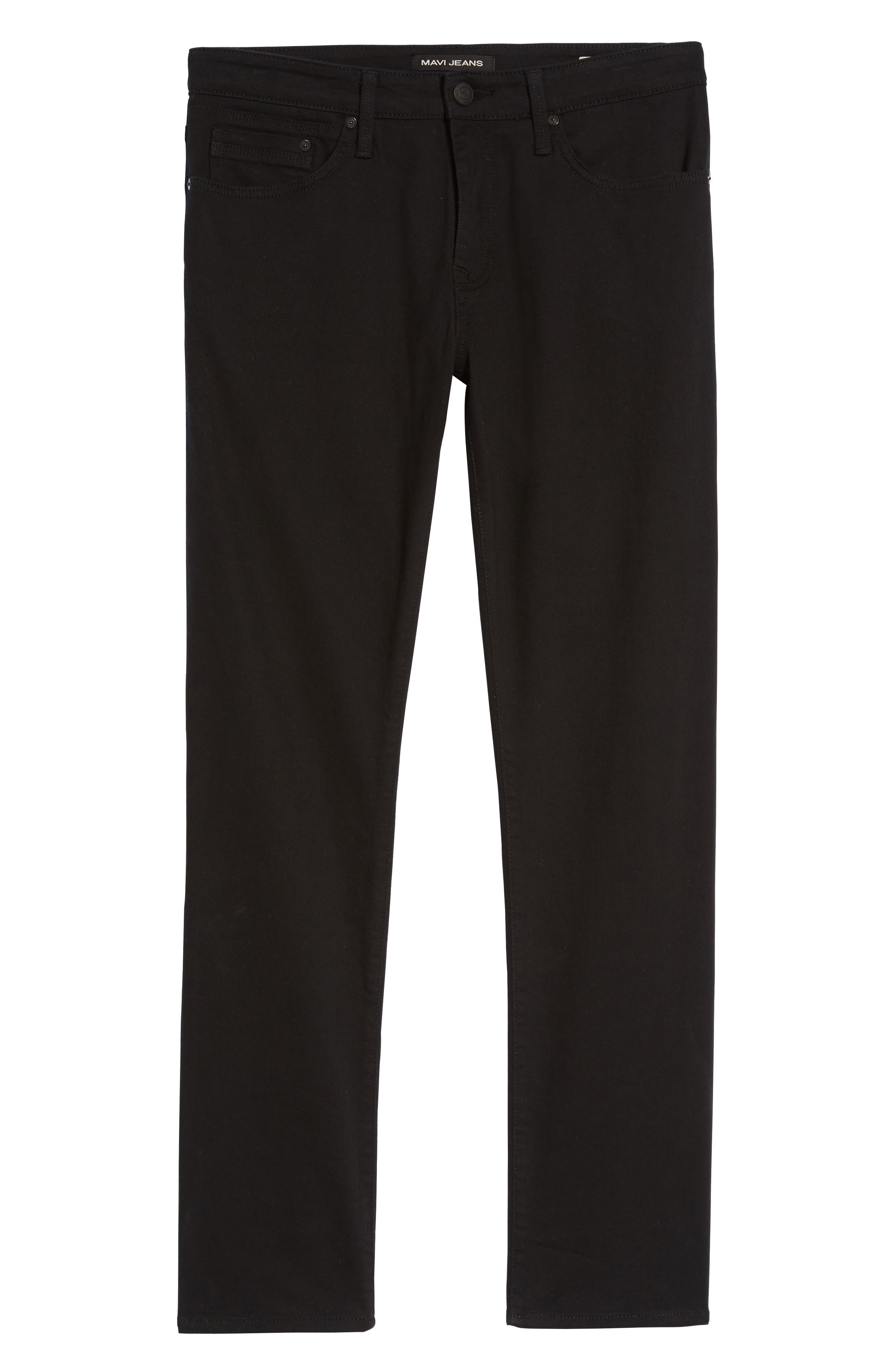 Alternate Image 6  - Mavi Jeans Zach Straight Leg Jeans (Black Williamsburg)