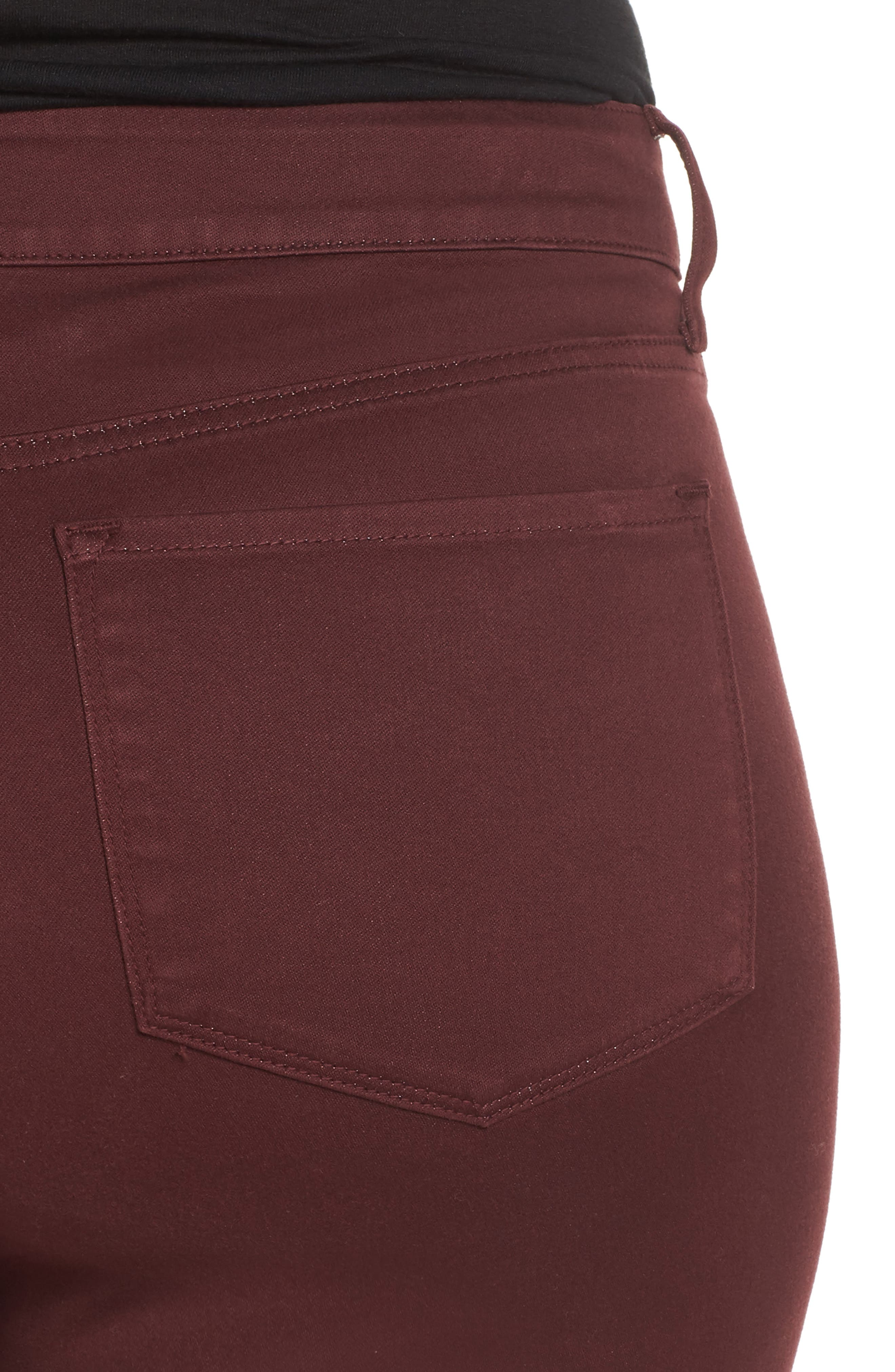Ami Stretch Skinny Jeans,                             Alternate thumbnail 4, color,                             Deep Currant