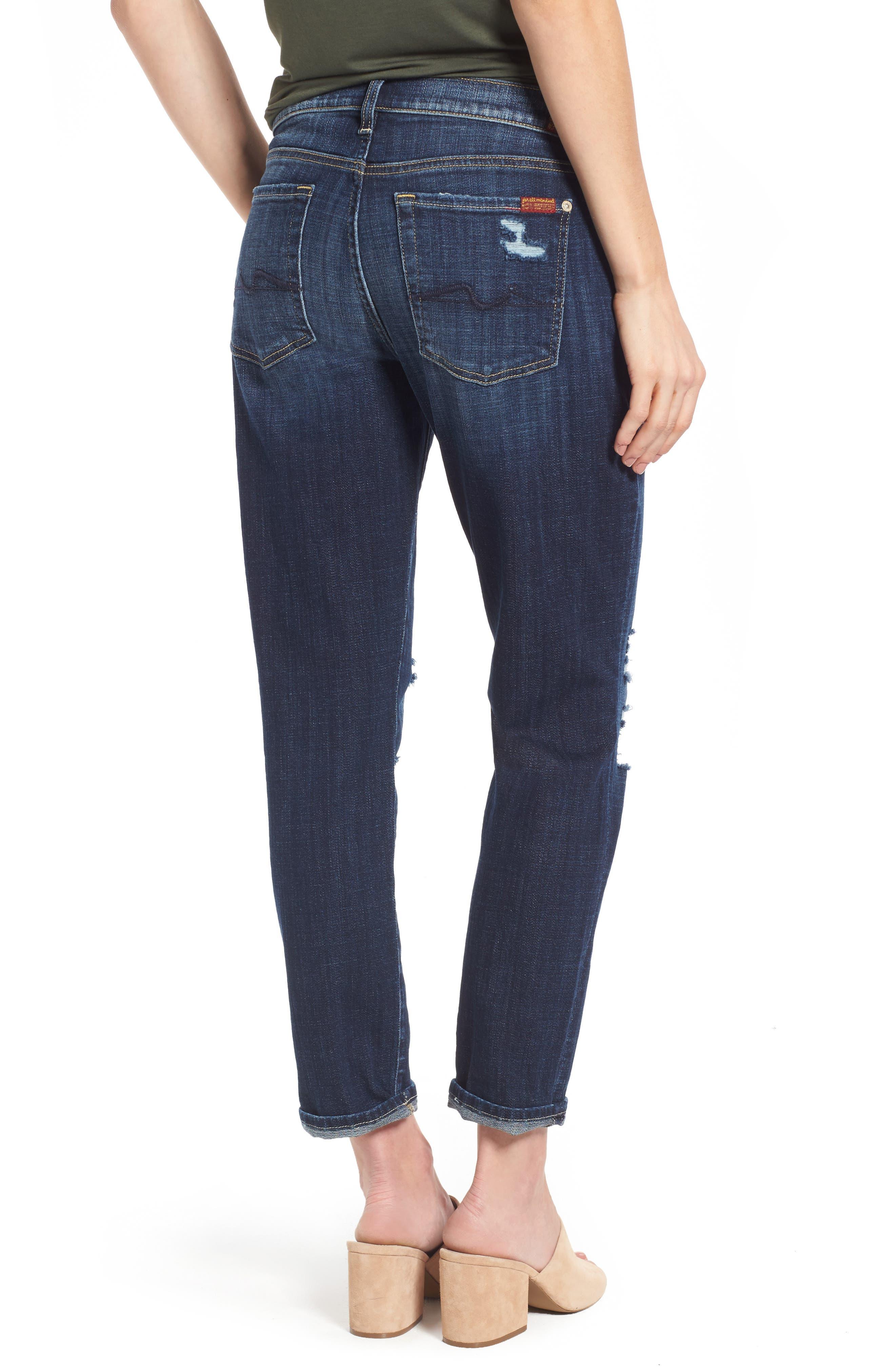 Josefina Boyfriend Jeans,                             Alternate thumbnail 3, color,                             Majestic Broken Twill