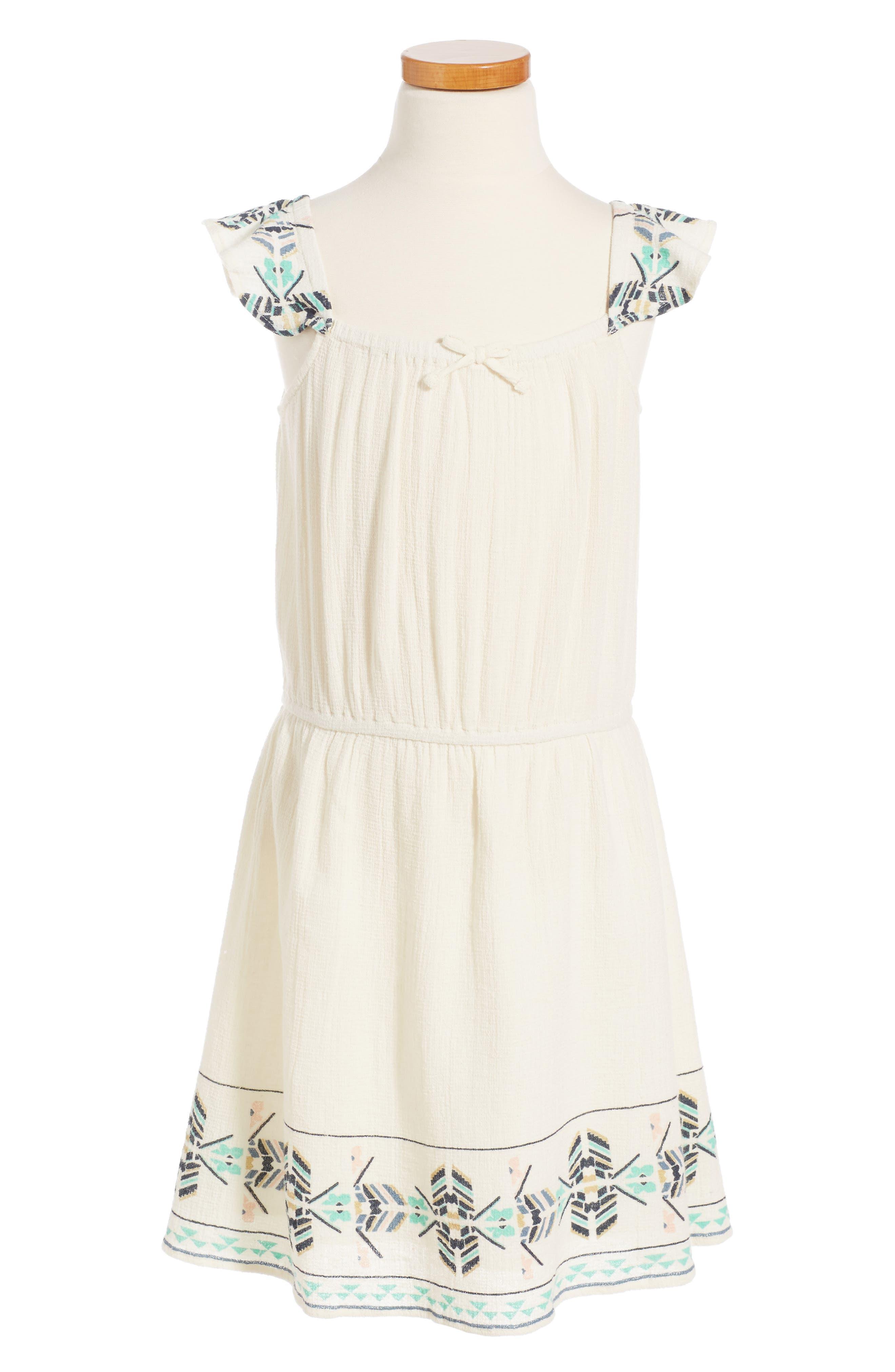Roxy High Line Flyes Flutter Sleeve Dress (Big Girls)