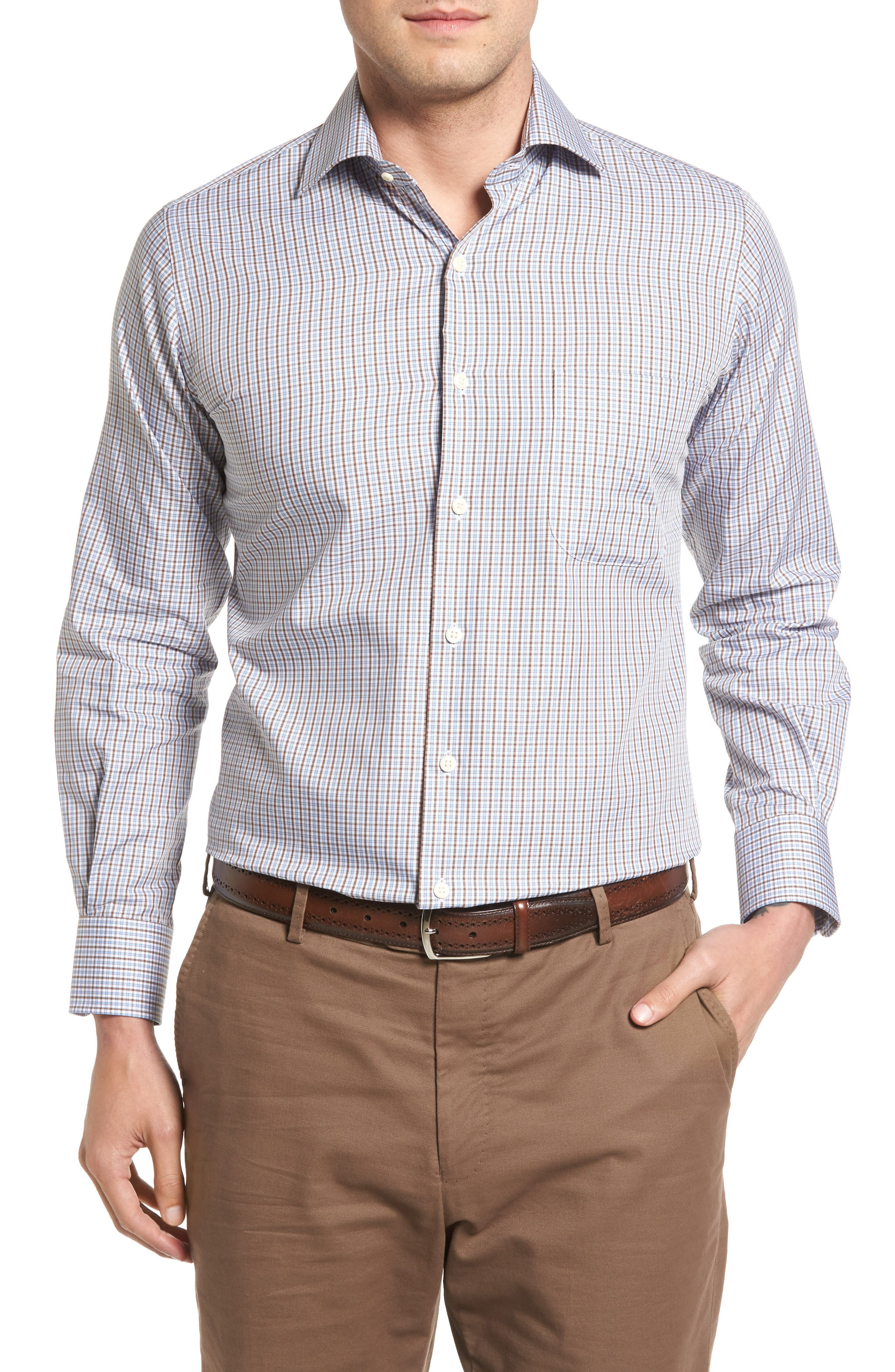 Peter Millar Regular Fit Fall Check Sport Shirt