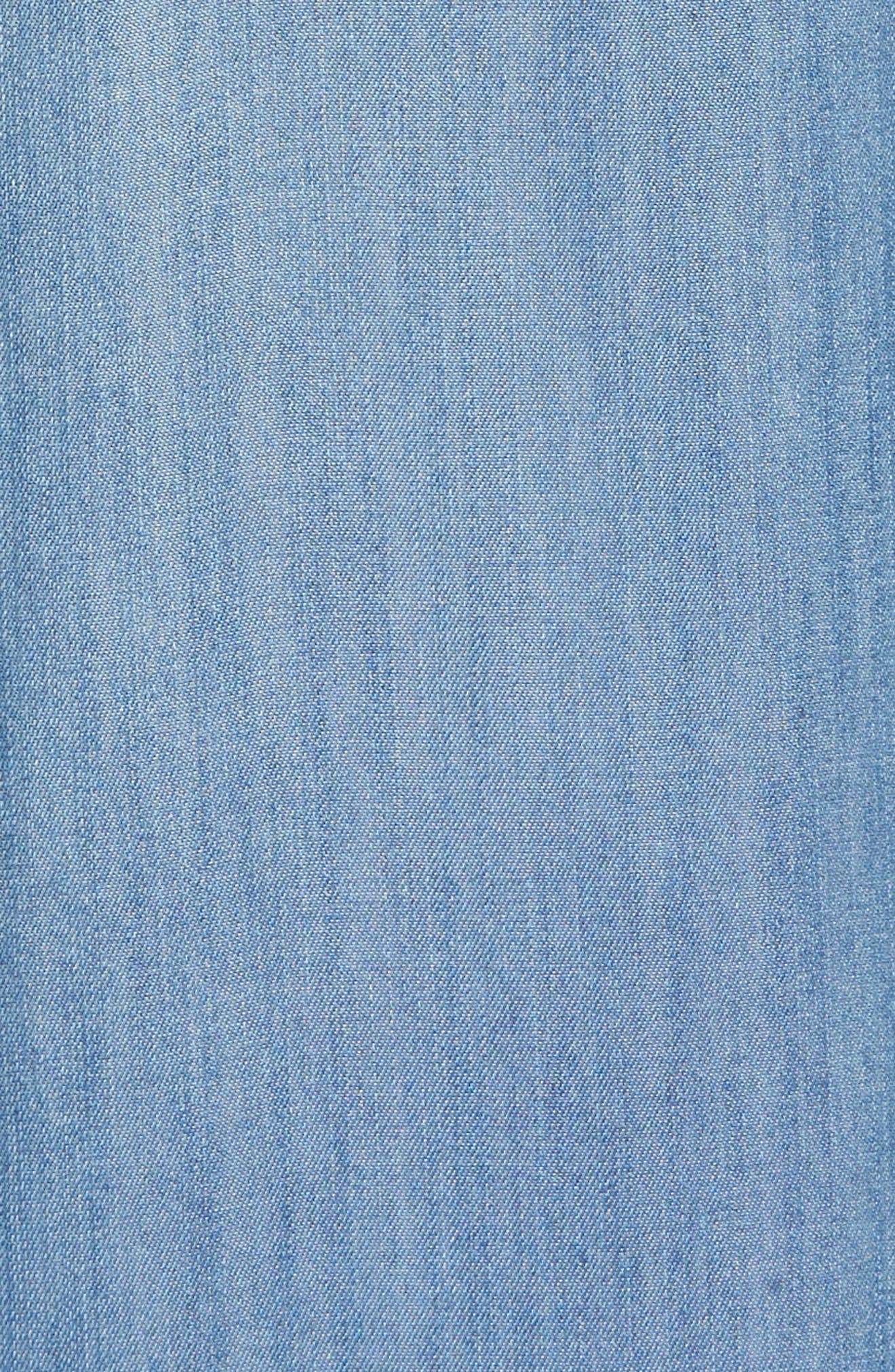 Alternate Image 5  - BILLY T Embroidered Denim Wide Leg Crop Pants
