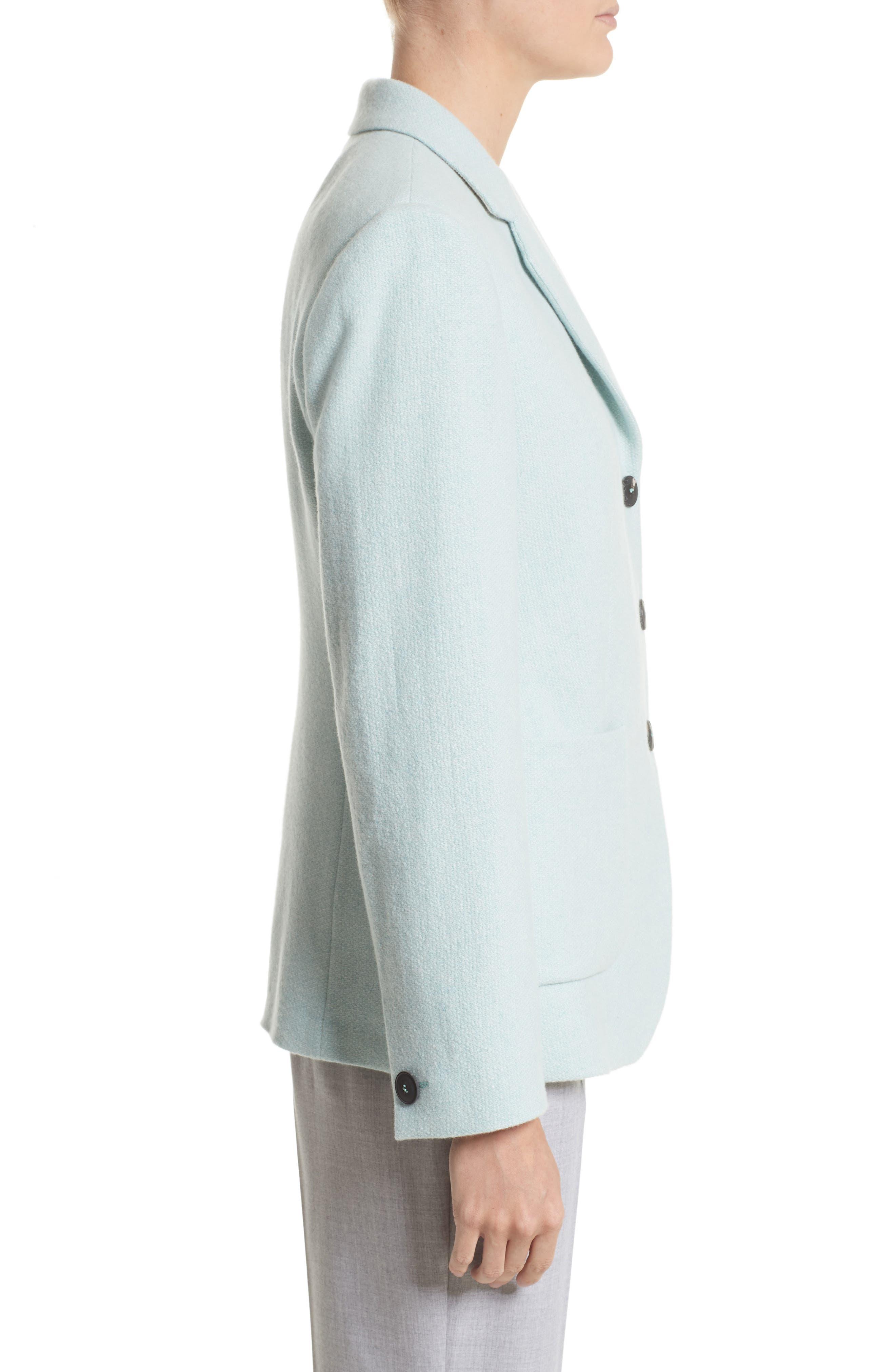 Pola Cashmere Jacket,                             Alternate thumbnail 6, color,                             Water