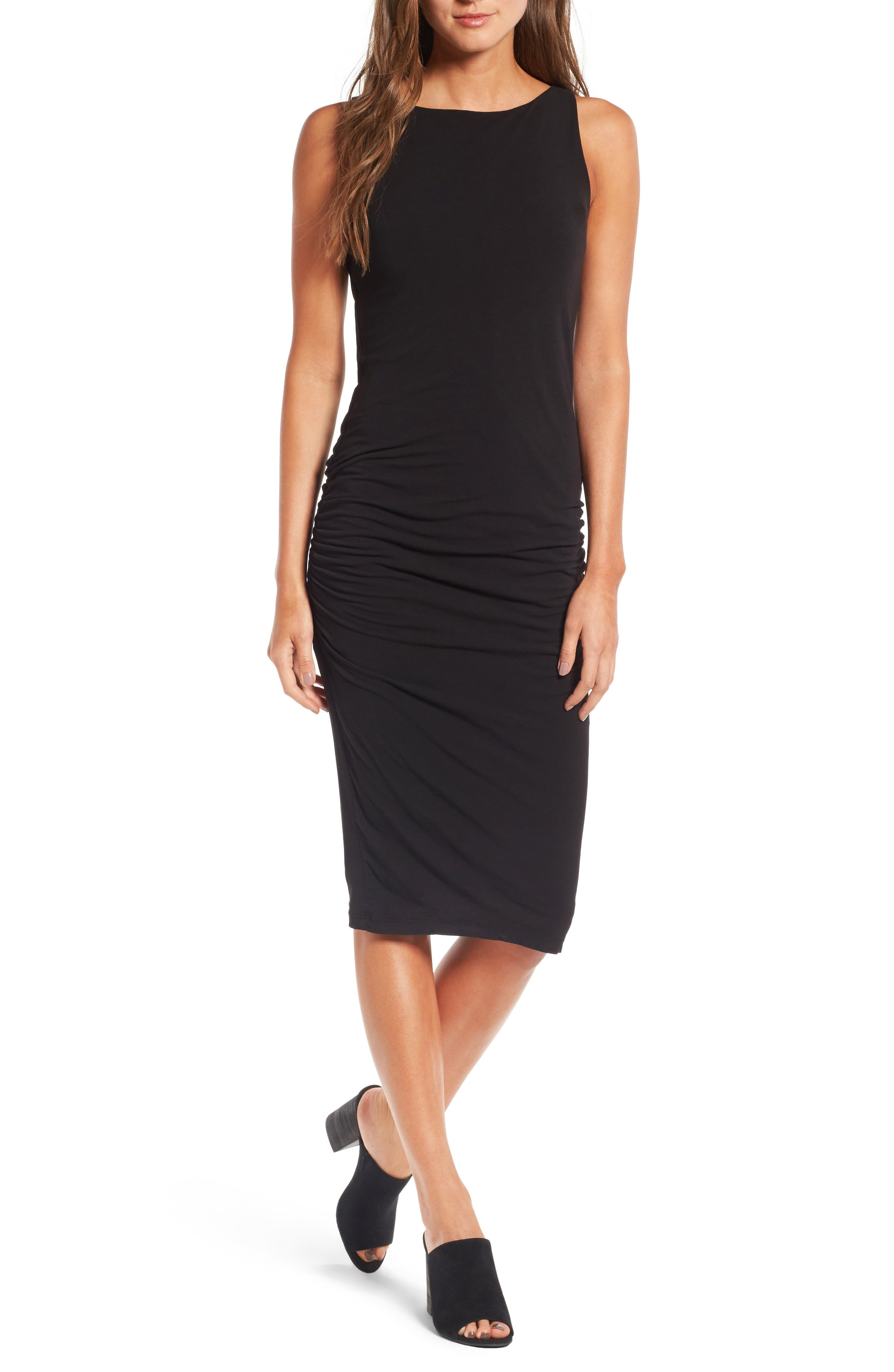 James Perse High Neck Shirred Dress