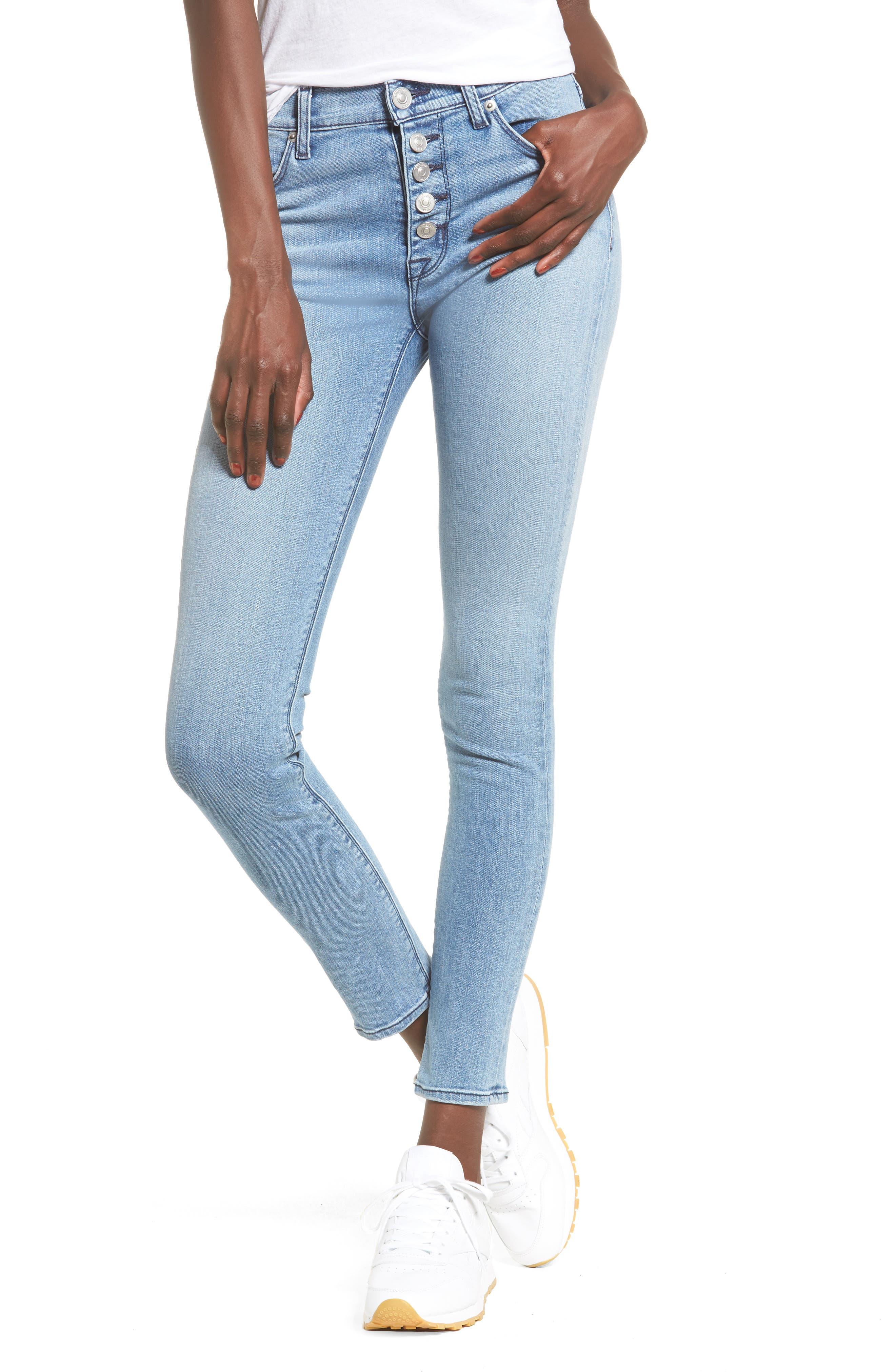 Main Image - Hudson Jeans Ciara High Waist Skinny Jeans (Shotgun)