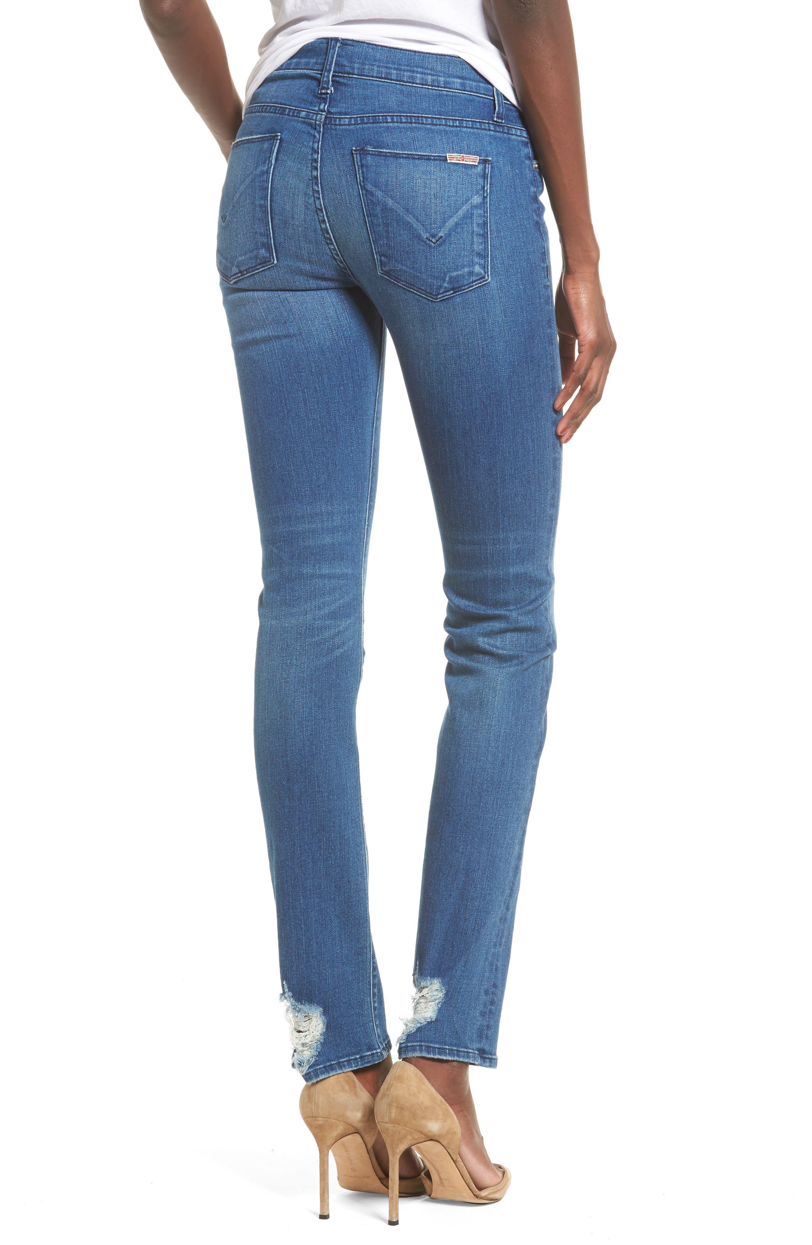Tilda Cigarette Leg Jeans,                             Alternate thumbnail 2, color,                             Blue Riot