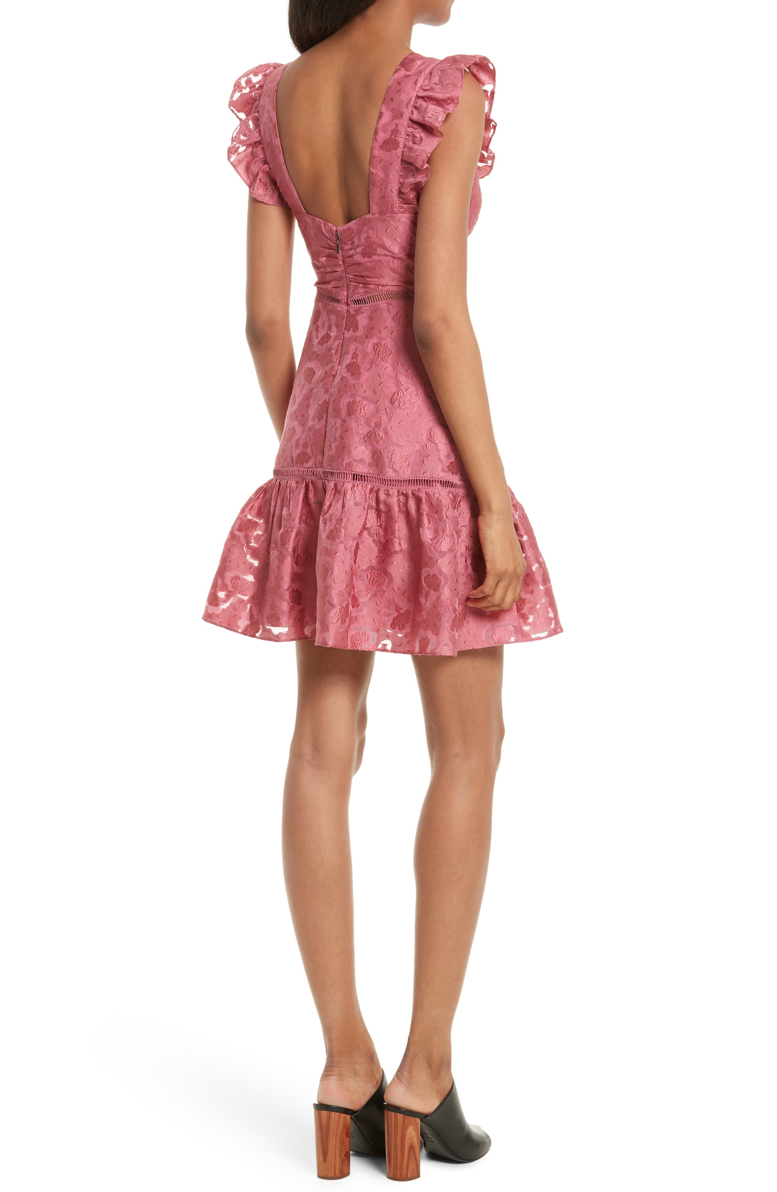 Alternate Image 2  - Rebecca Taylor Aly Floral Jacquard Dress