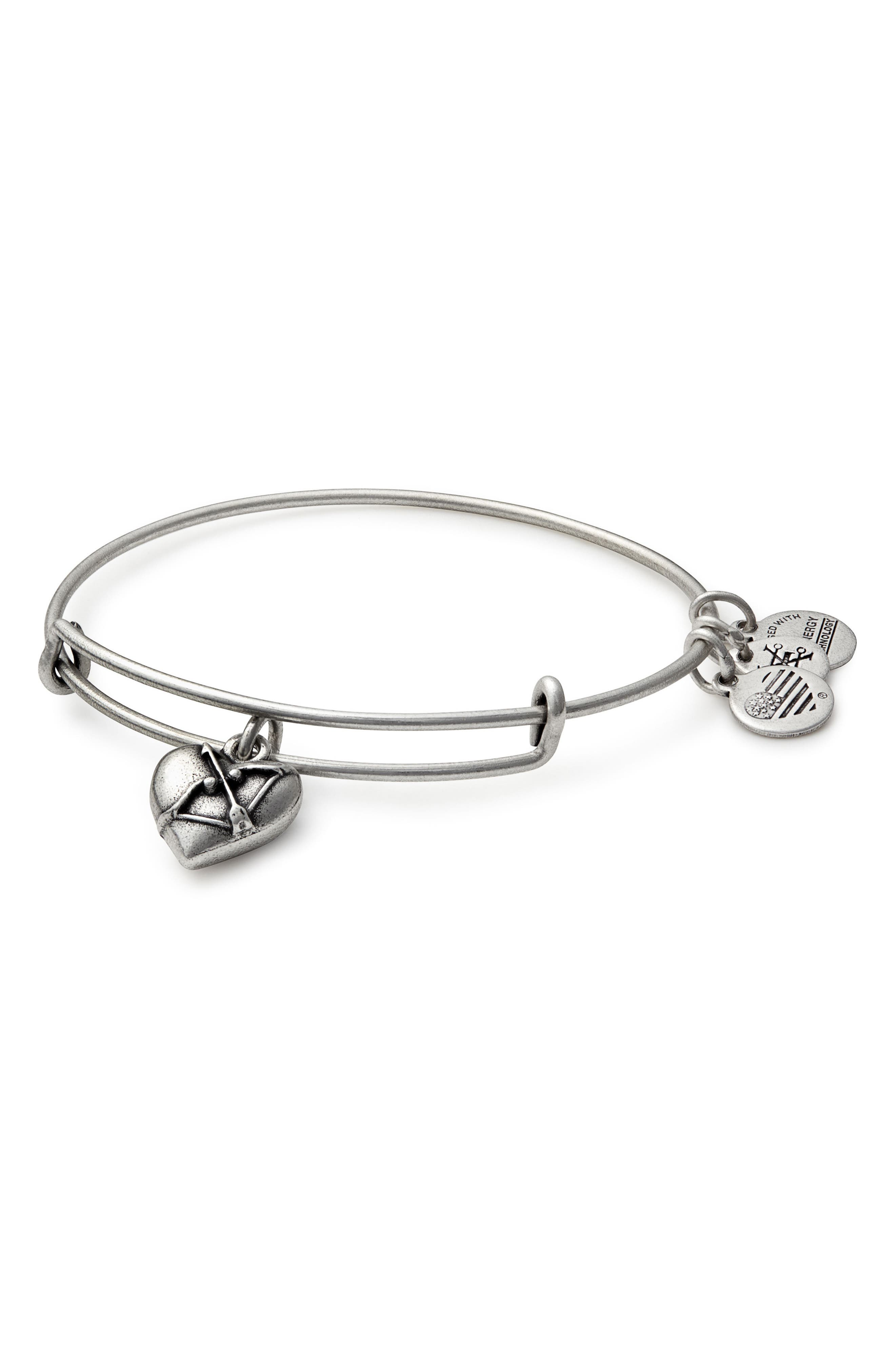 Main Image - Alex and Ani Cupid's Heart Expandable Charm Bracelet