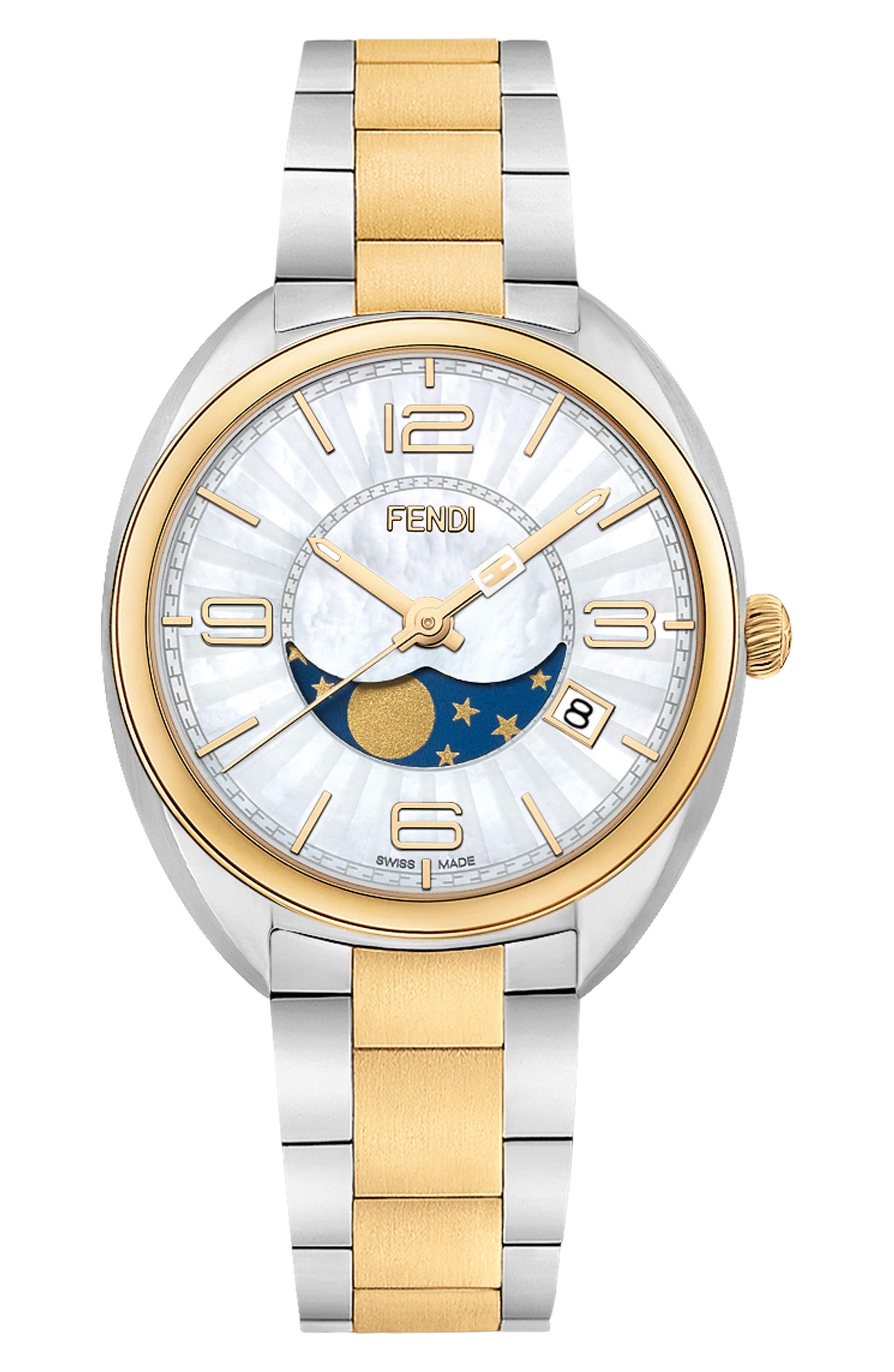 Momento Bracelet Watch, 34mm,                         Main,                         color, Silver/ Mop/ Gold