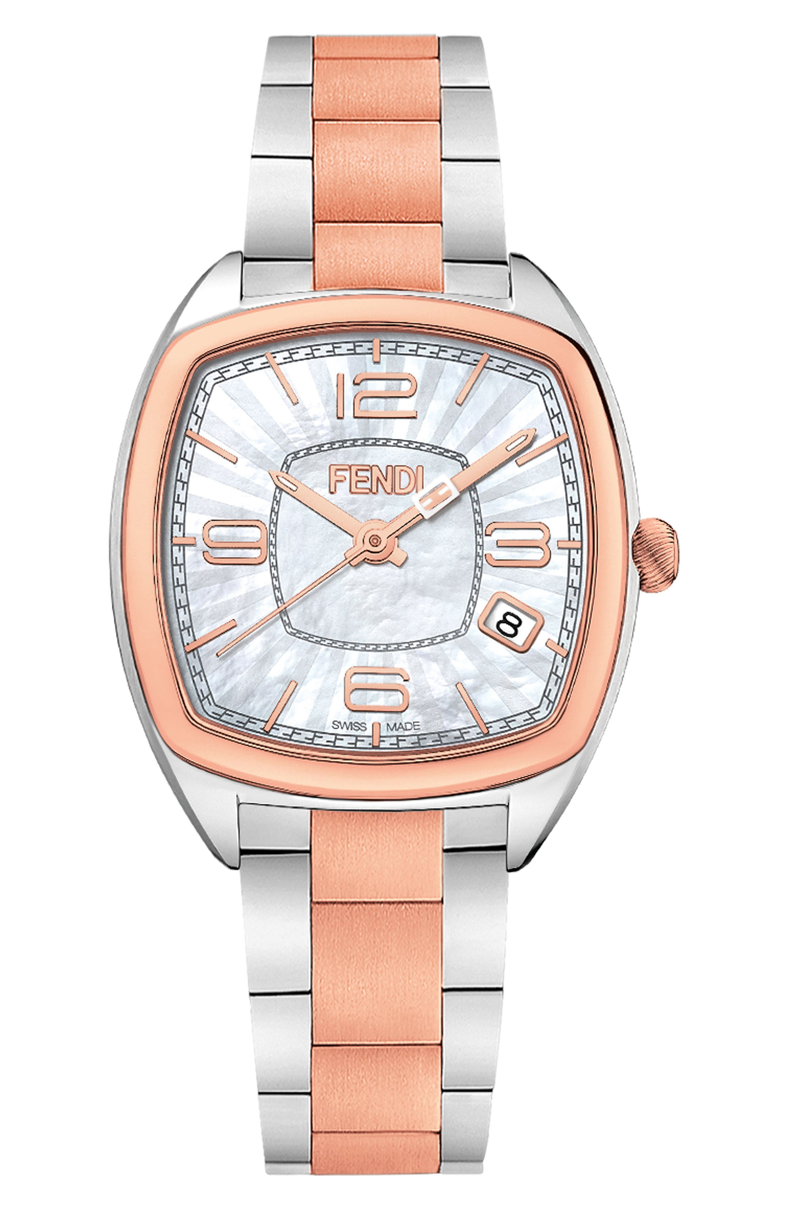 Main Image - Fendi Momento Square Bracelet Watch, 32mm