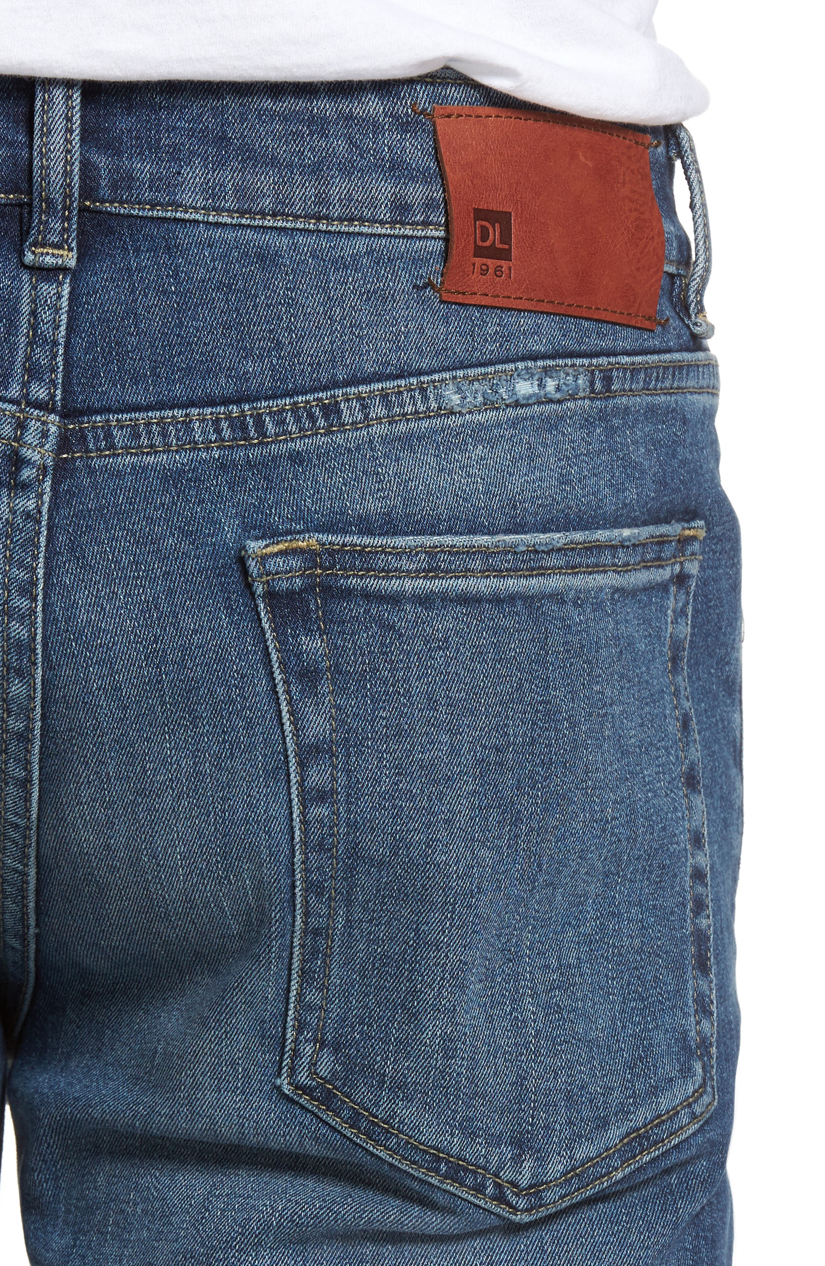 Russell Slim Straight Fit Jeans,                             Alternate thumbnail 4, color,                             Twine