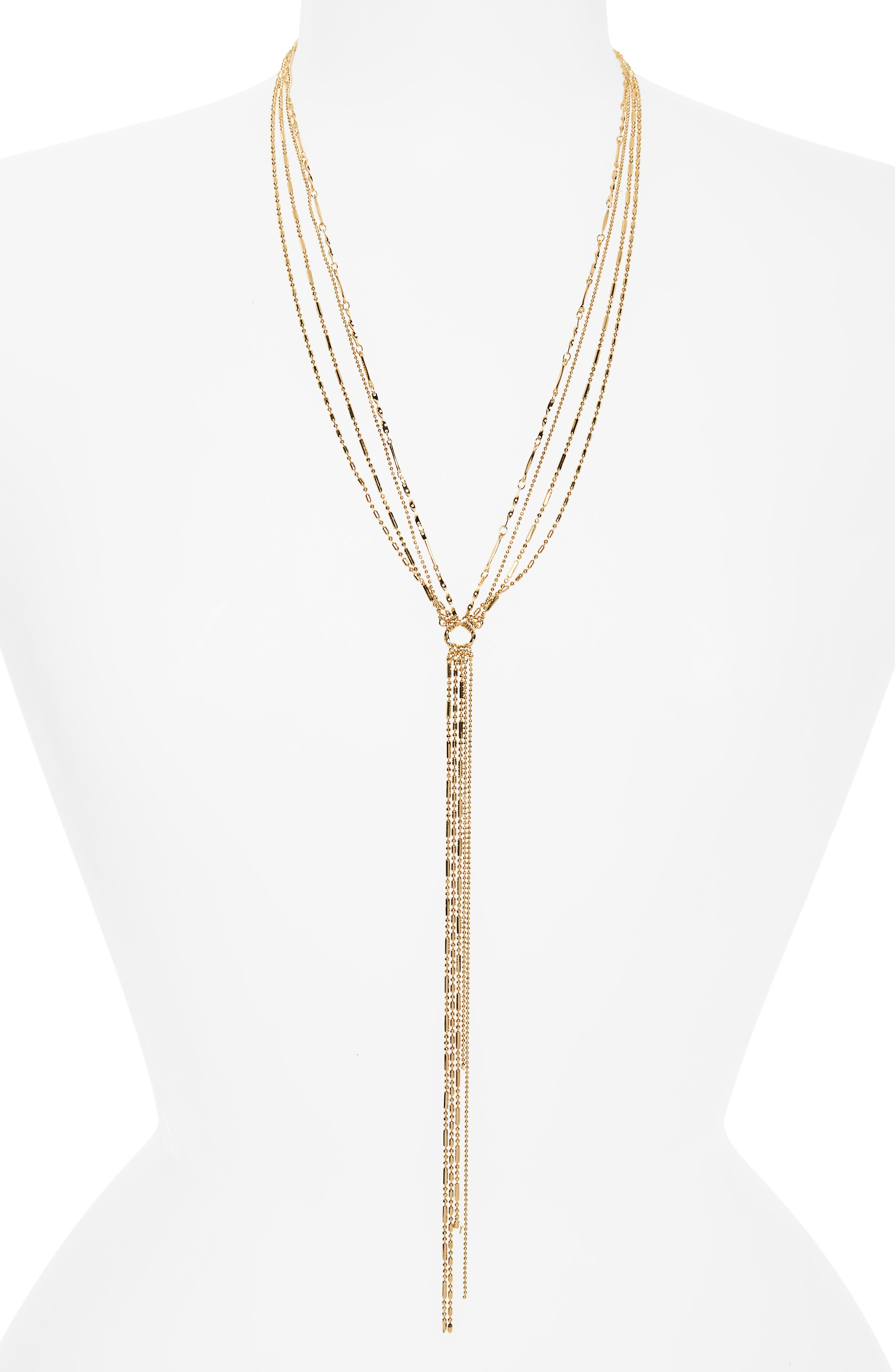 PANACEA Multistrand Lariat Necklace