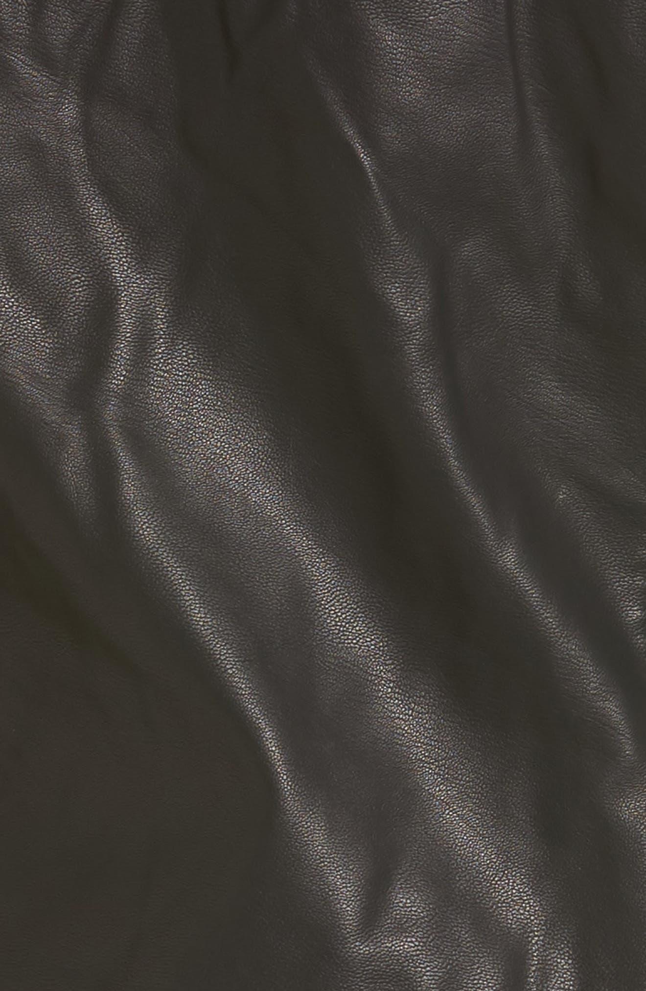 Luna Faux Leather Biker Jacket,                             Alternate thumbnail 5, color,                             Black