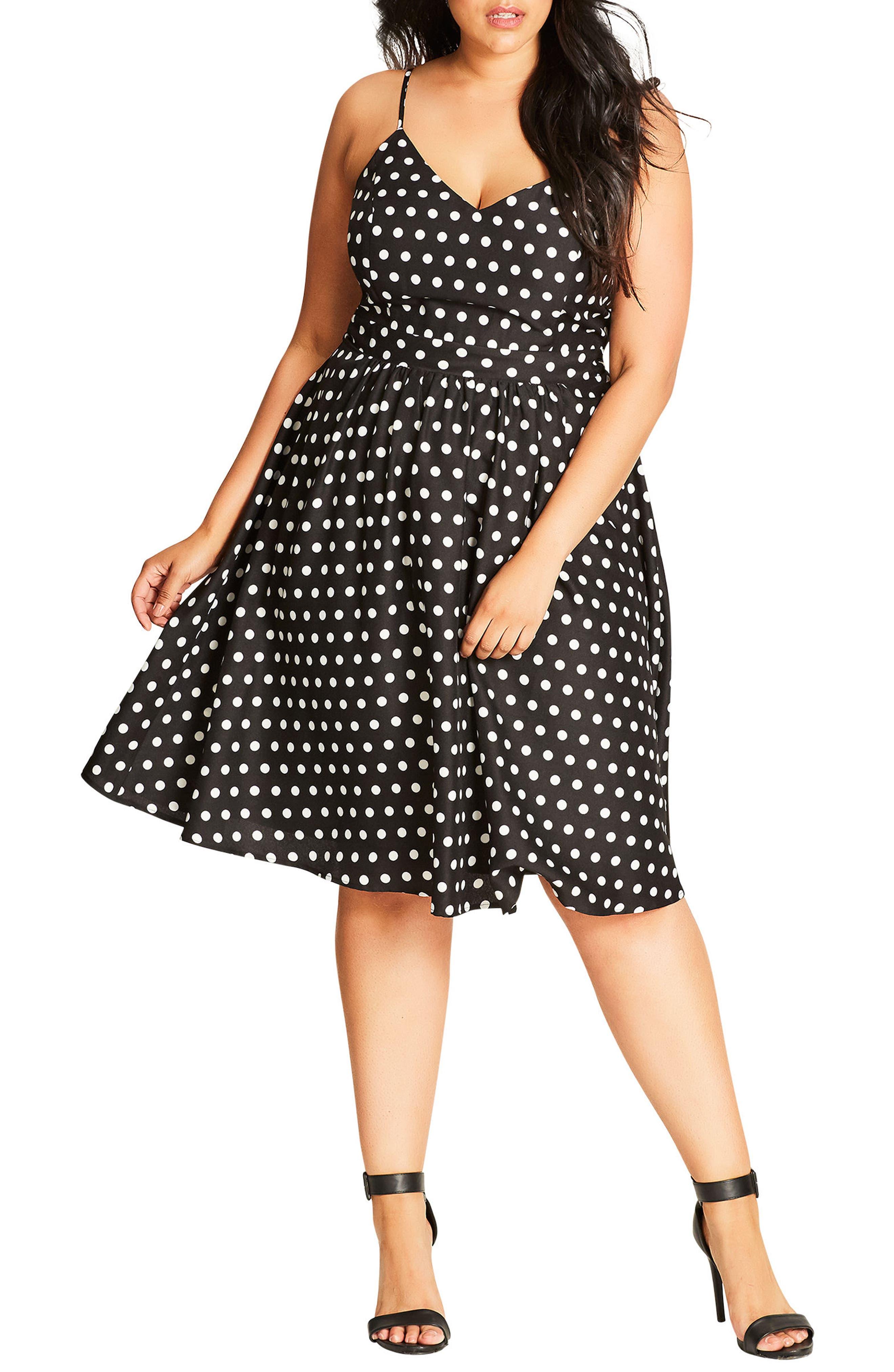 City Chic Cute Girl Fit & Flare Dress (Plus Size)
