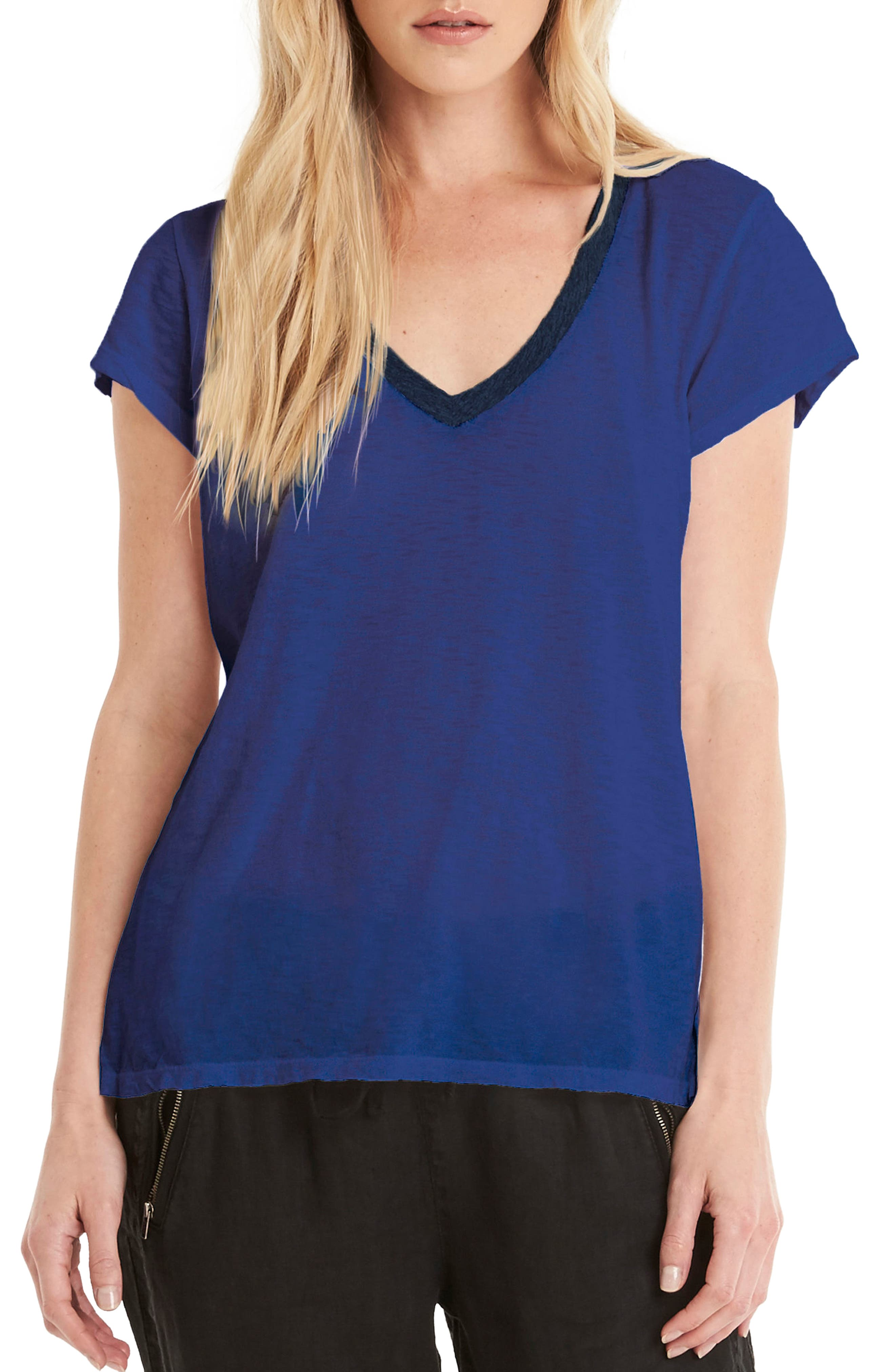 Alternate Image 1 Selected - Michael Stars Contrast V-Neck Tee