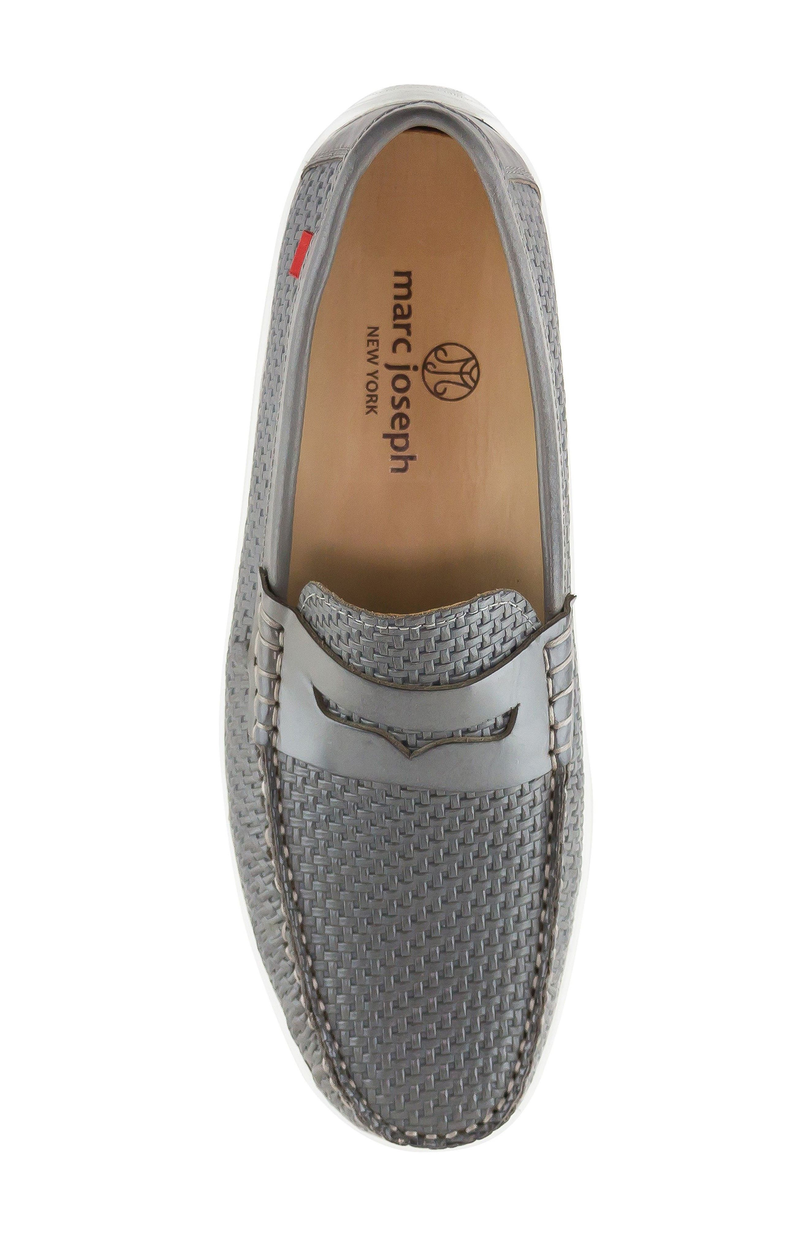 Atlantic Penny Loafer,                             Alternate thumbnail 5, color,                             Grey Leather
