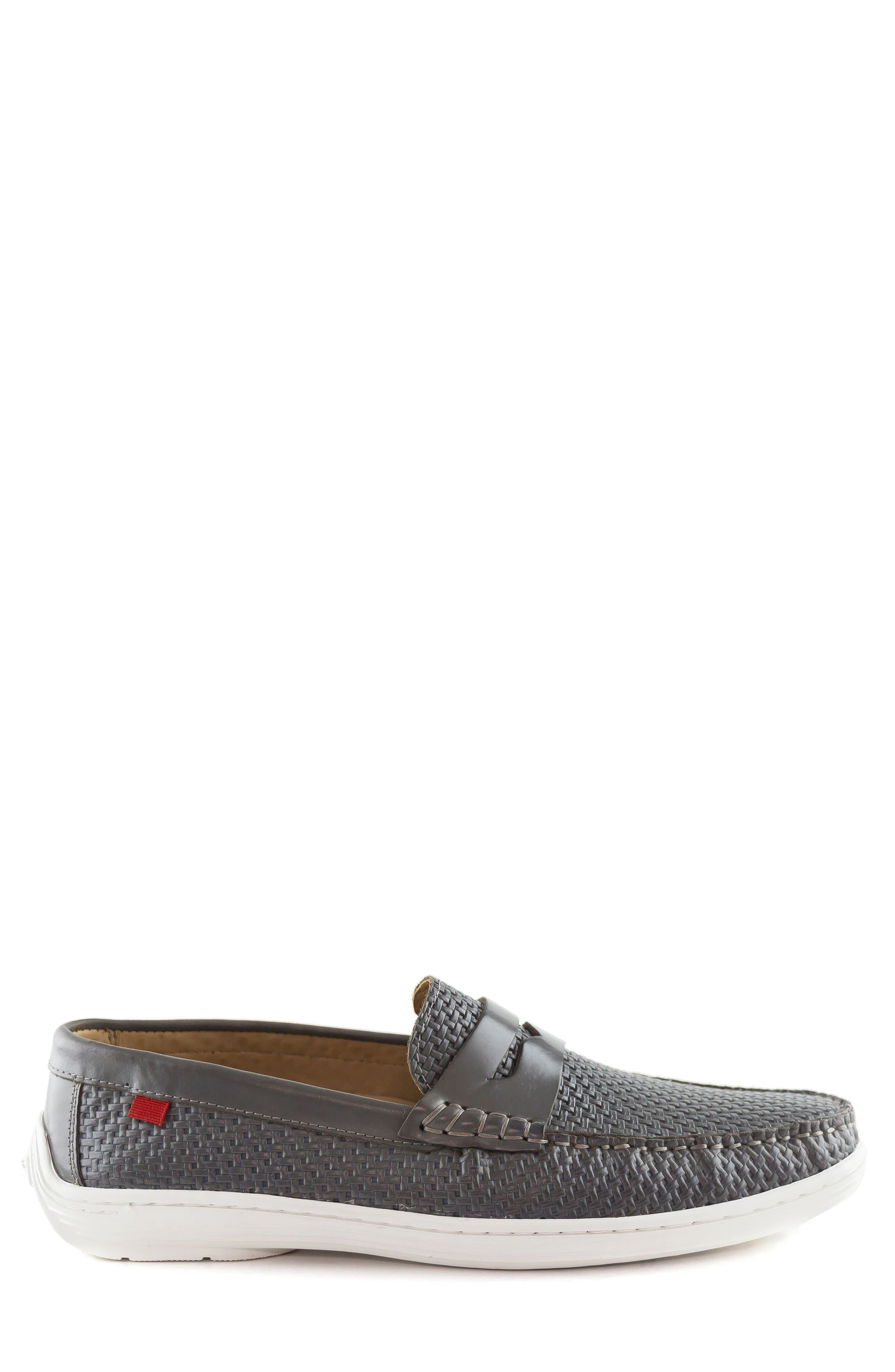 Atlantic Penny Loafer,                             Alternate thumbnail 3, color,                             Grey Leather