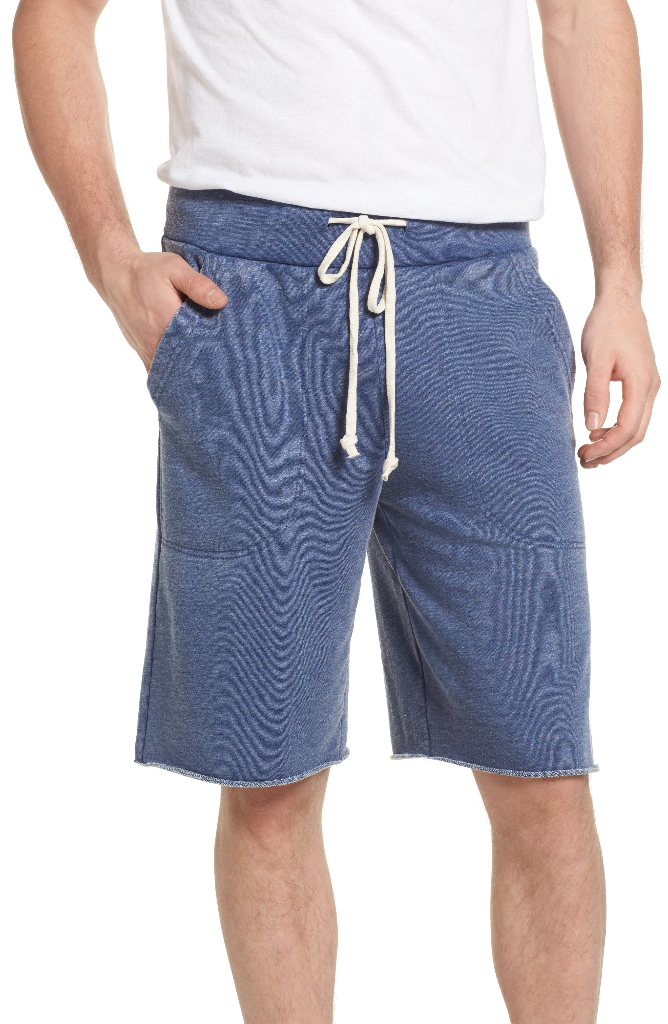 'Victory' French Terry Shorts,                         Main,                         color, Navy