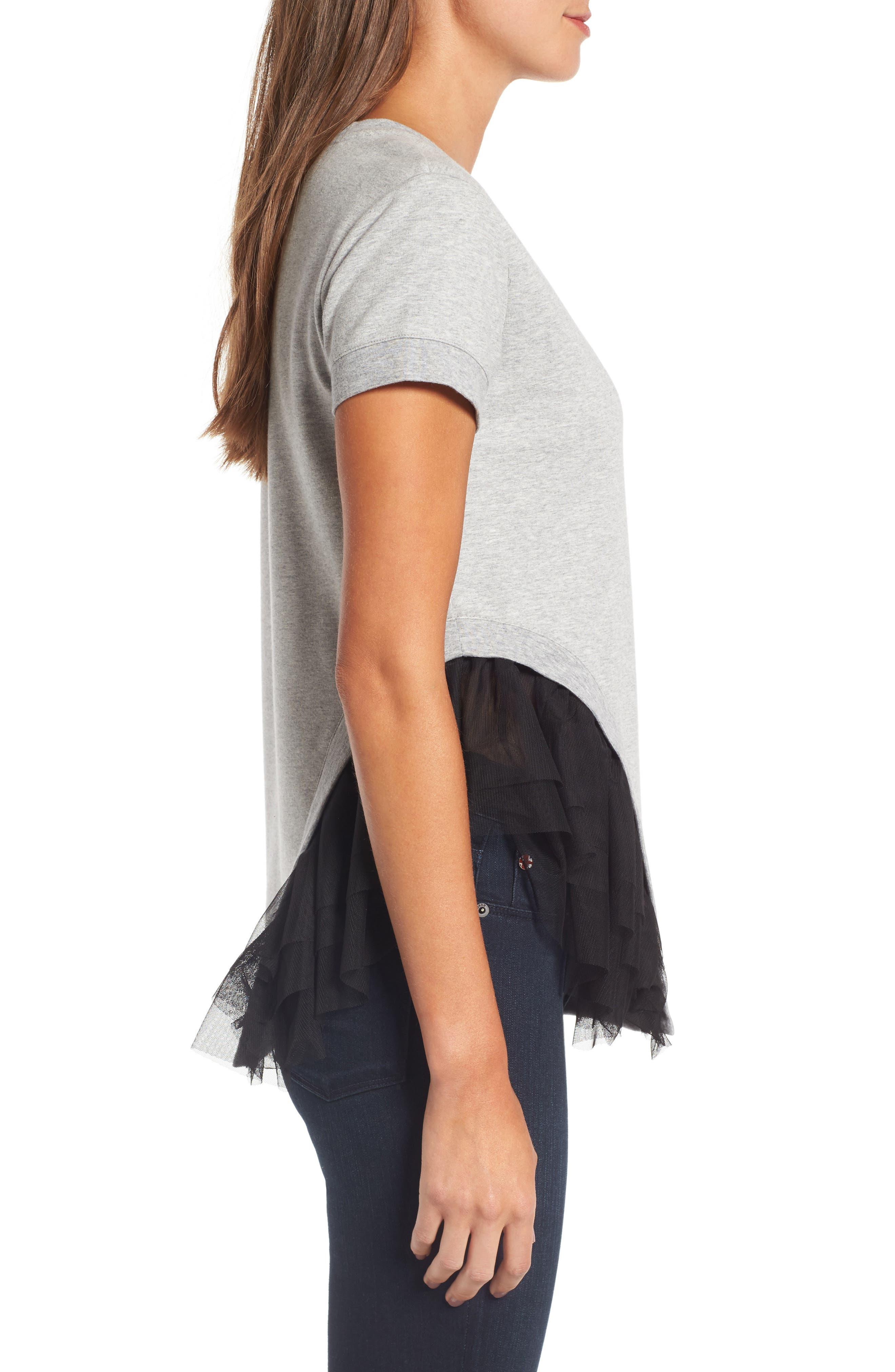 Alternate Image 4  - Chelsea28 Mixed Media Sweatshirt