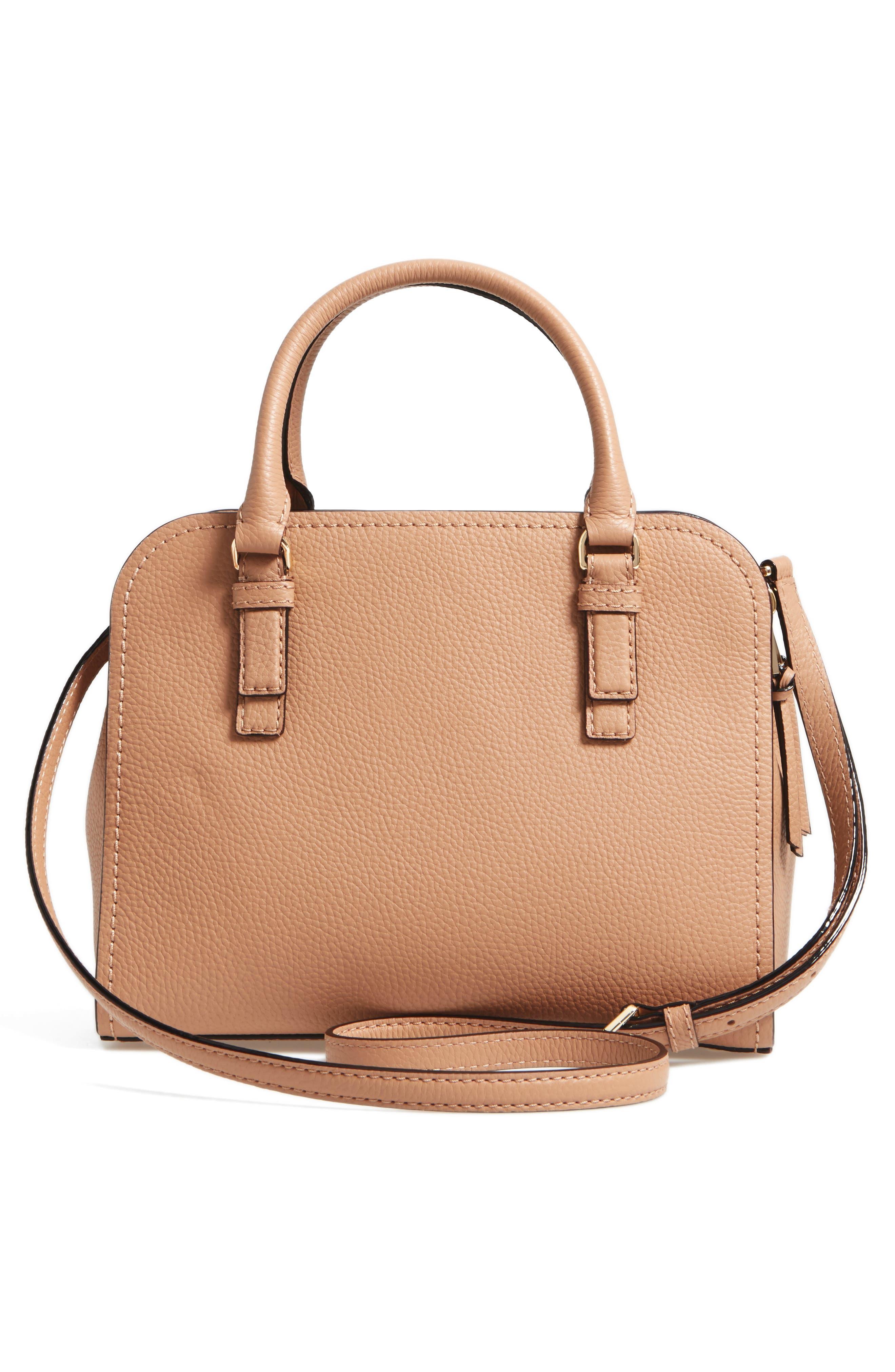 jackson street small kiernan leather top handle satchel,                             Alternate thumbnail 3, color,                             Hazel