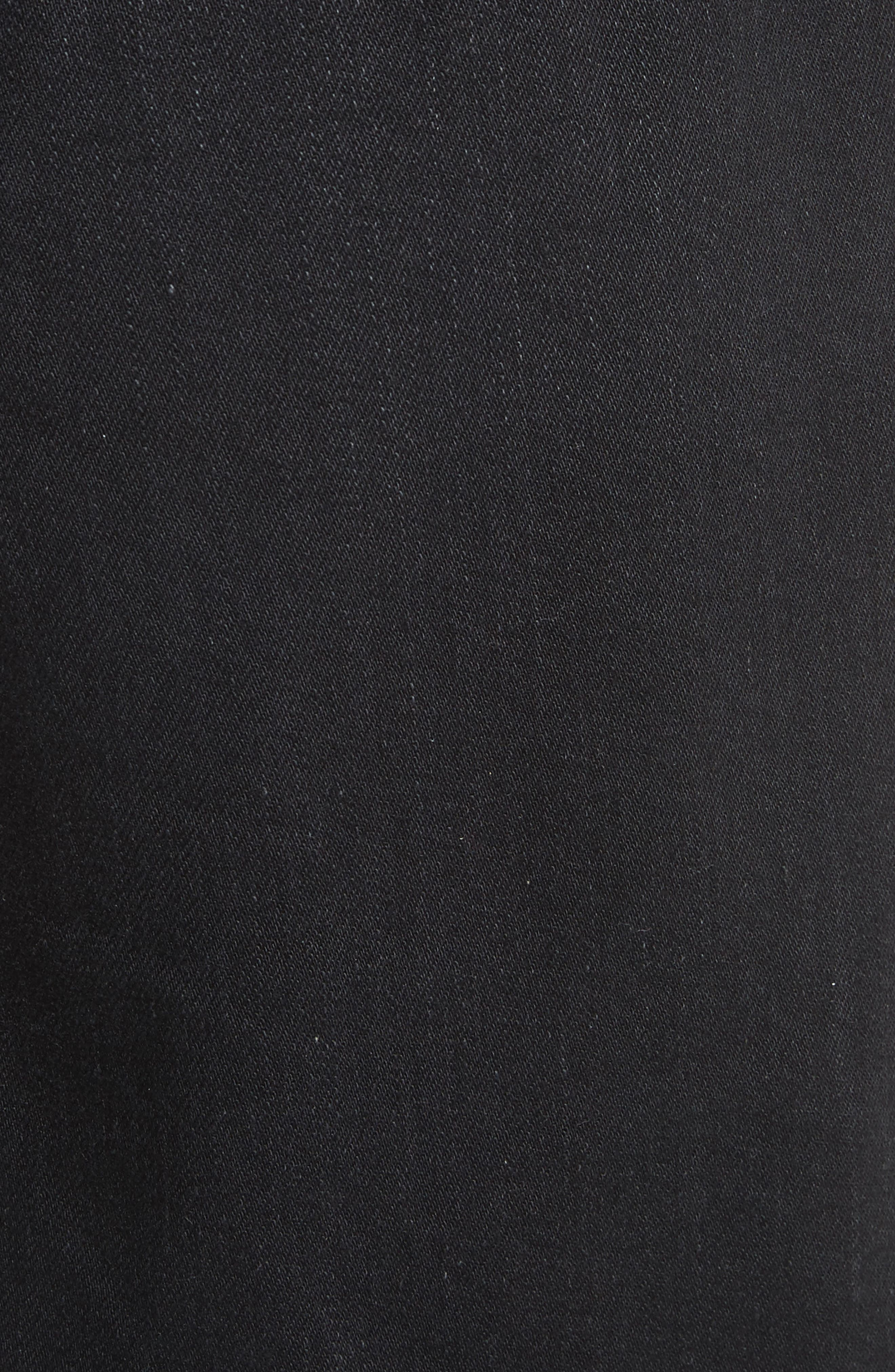 Denim x Alexander Wang Frayed Miniskirt,                             Alternate thumbnail 5, color,                             Black Fade