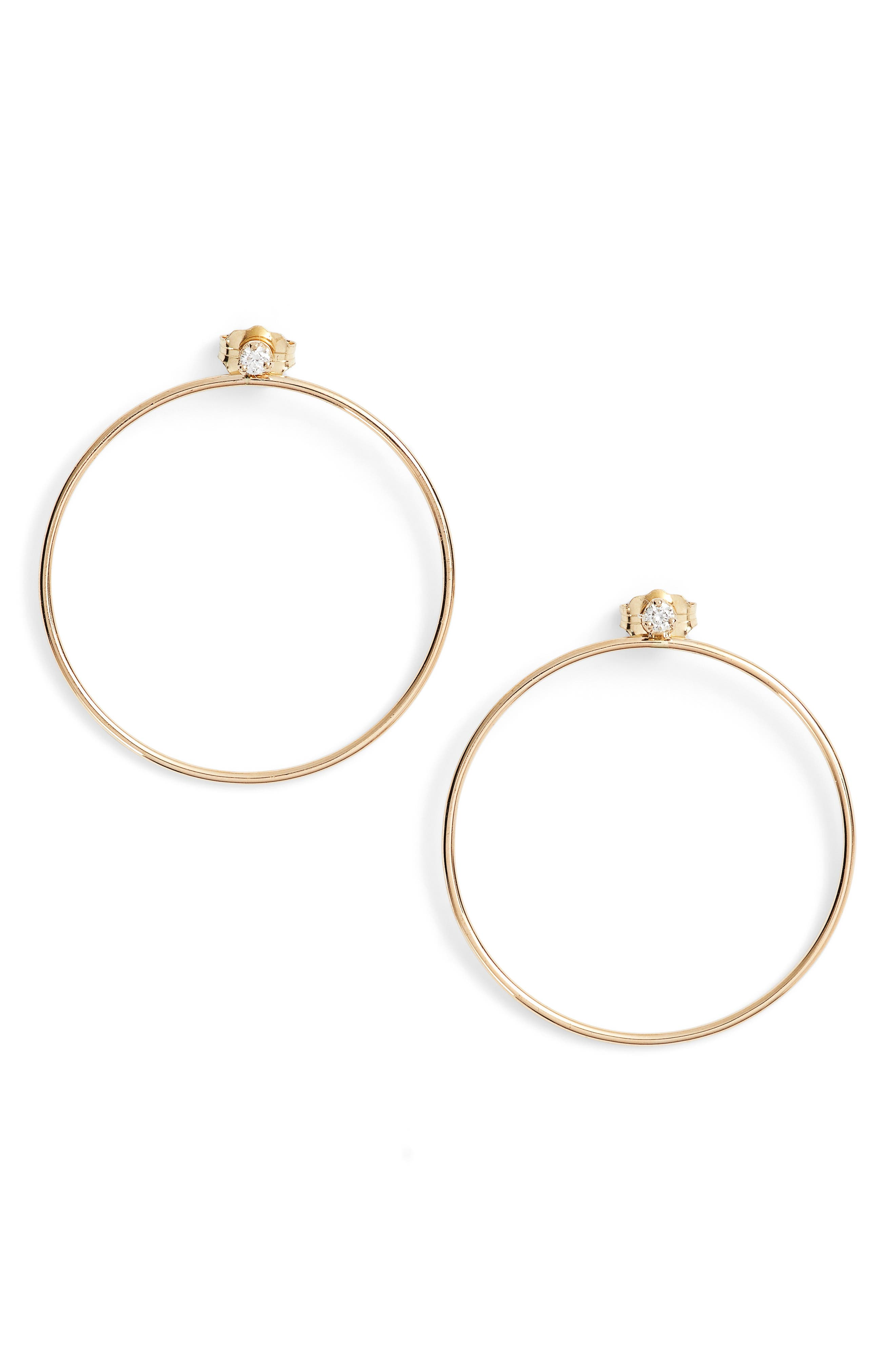 Alternate Image 1 Selected - Zoë Chicco Diamond Circle Ear Jackets