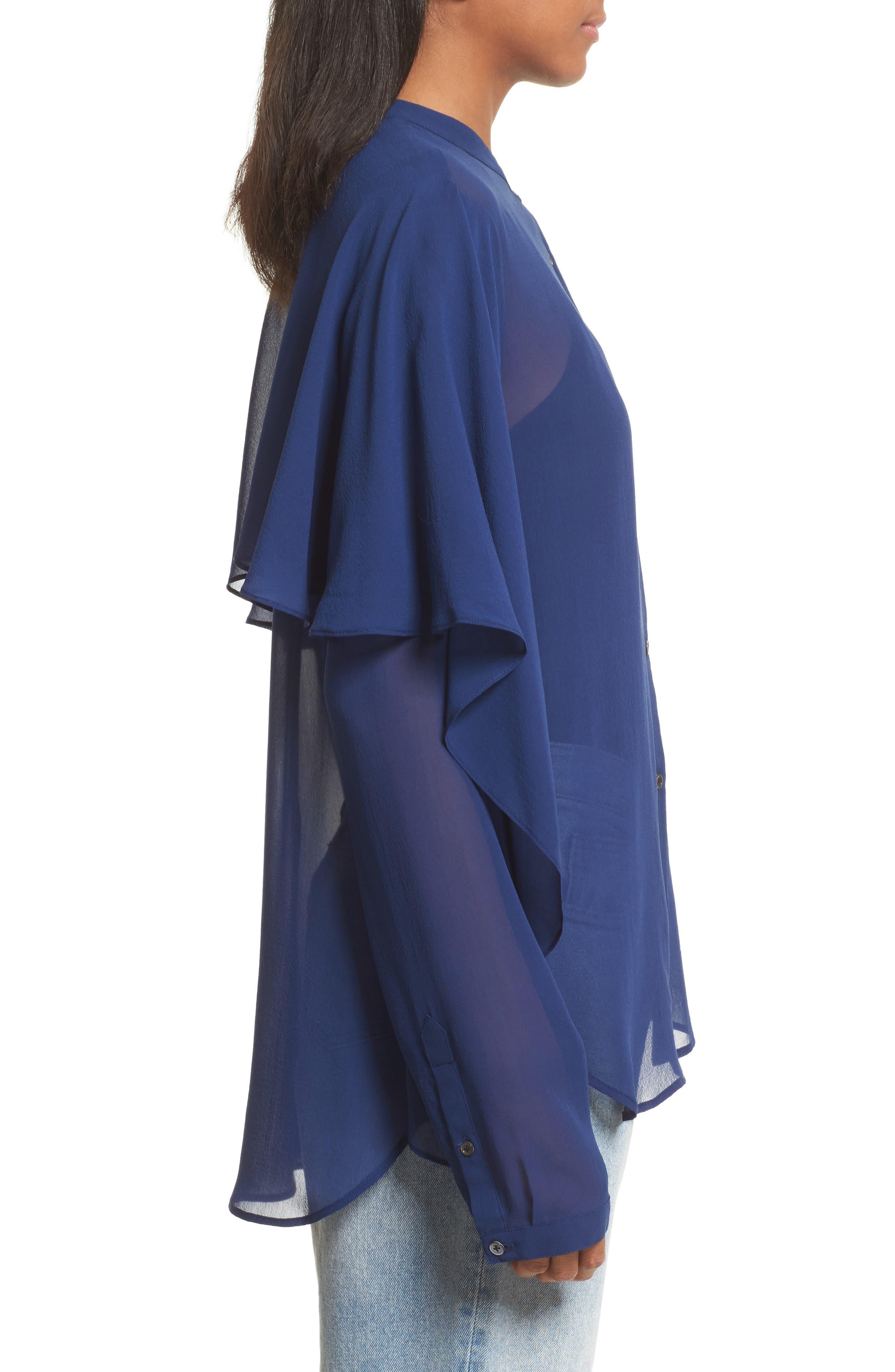 Alternate Image 3  - Robert Rodriguez Drape Detail Silk Shirt