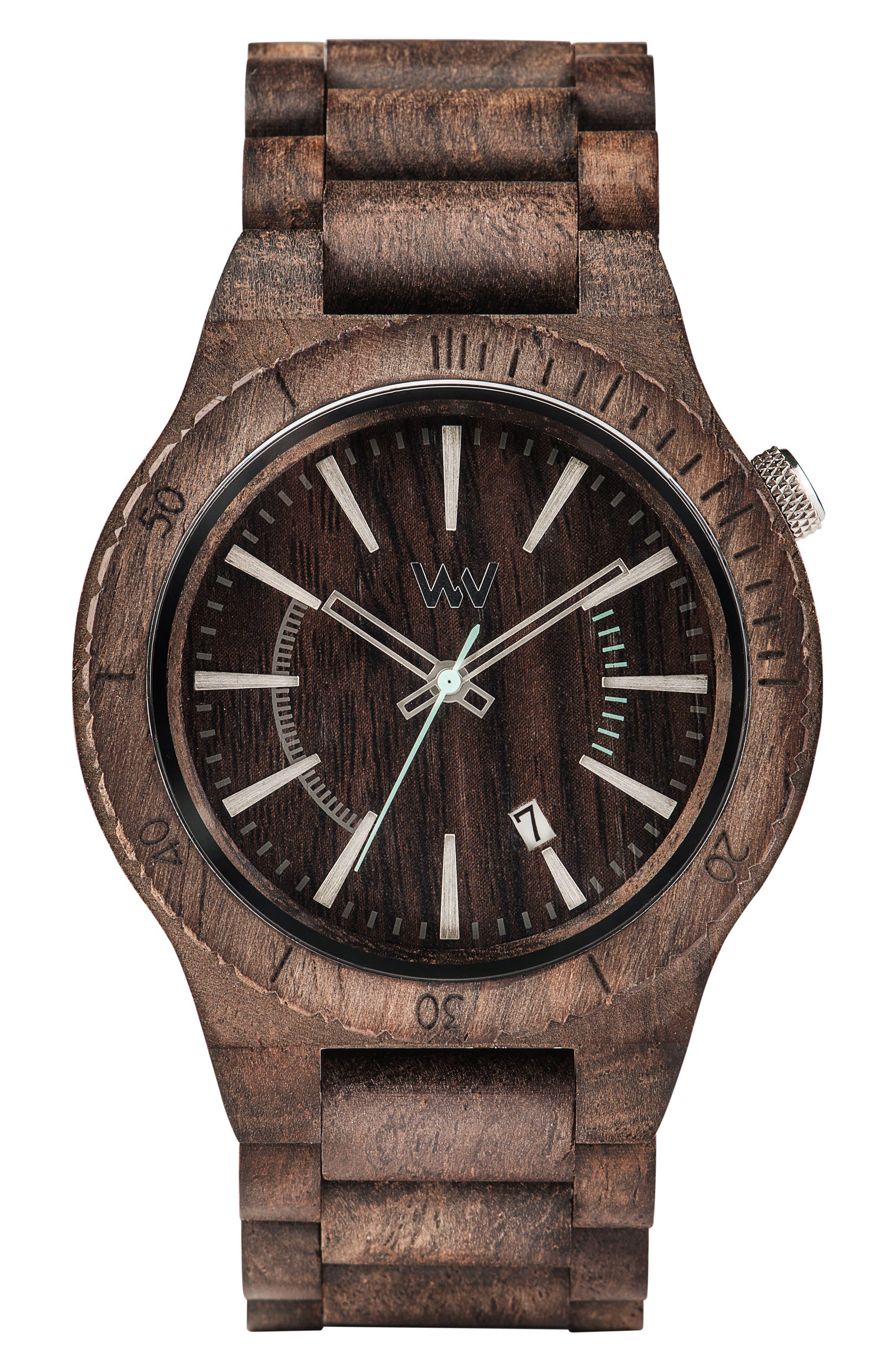 WeWOOD Assunt Wood Bracelet Watch, 46mm