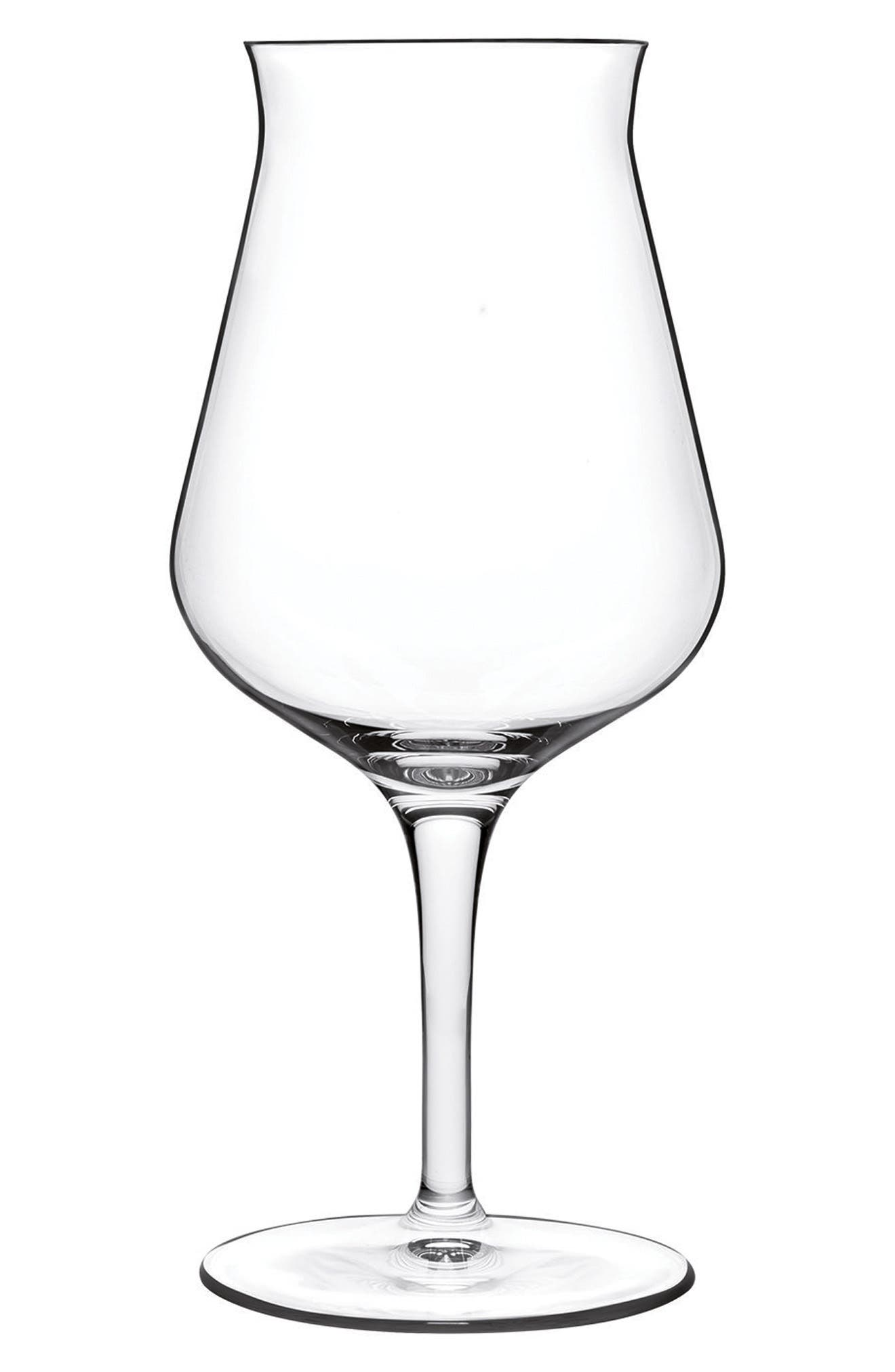 Birrateque Beer Tester Glass,                         Main,                         color, Clear