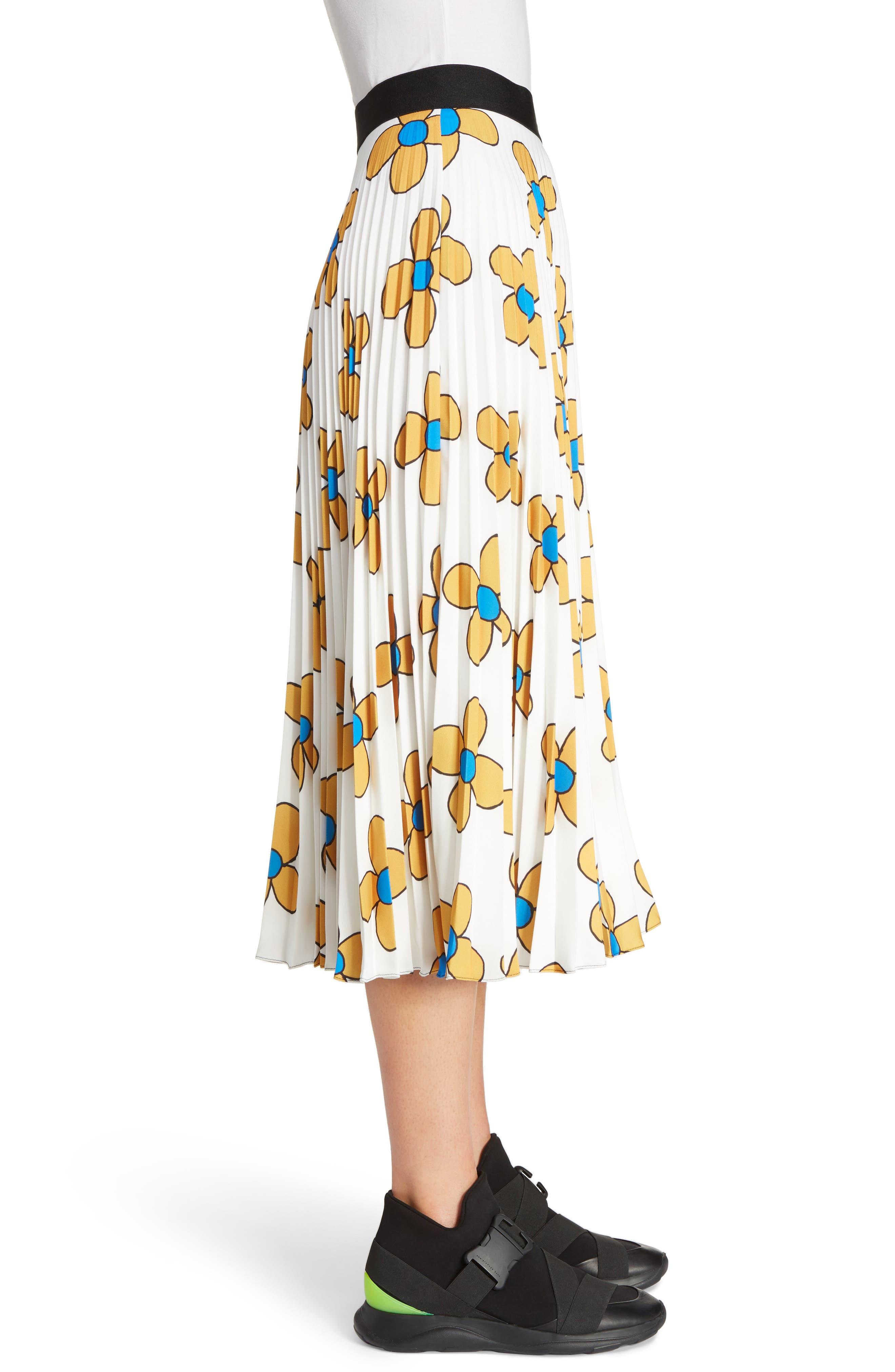 Alternate Image 4  - Christopher Kane Flower Print Midi Skirt