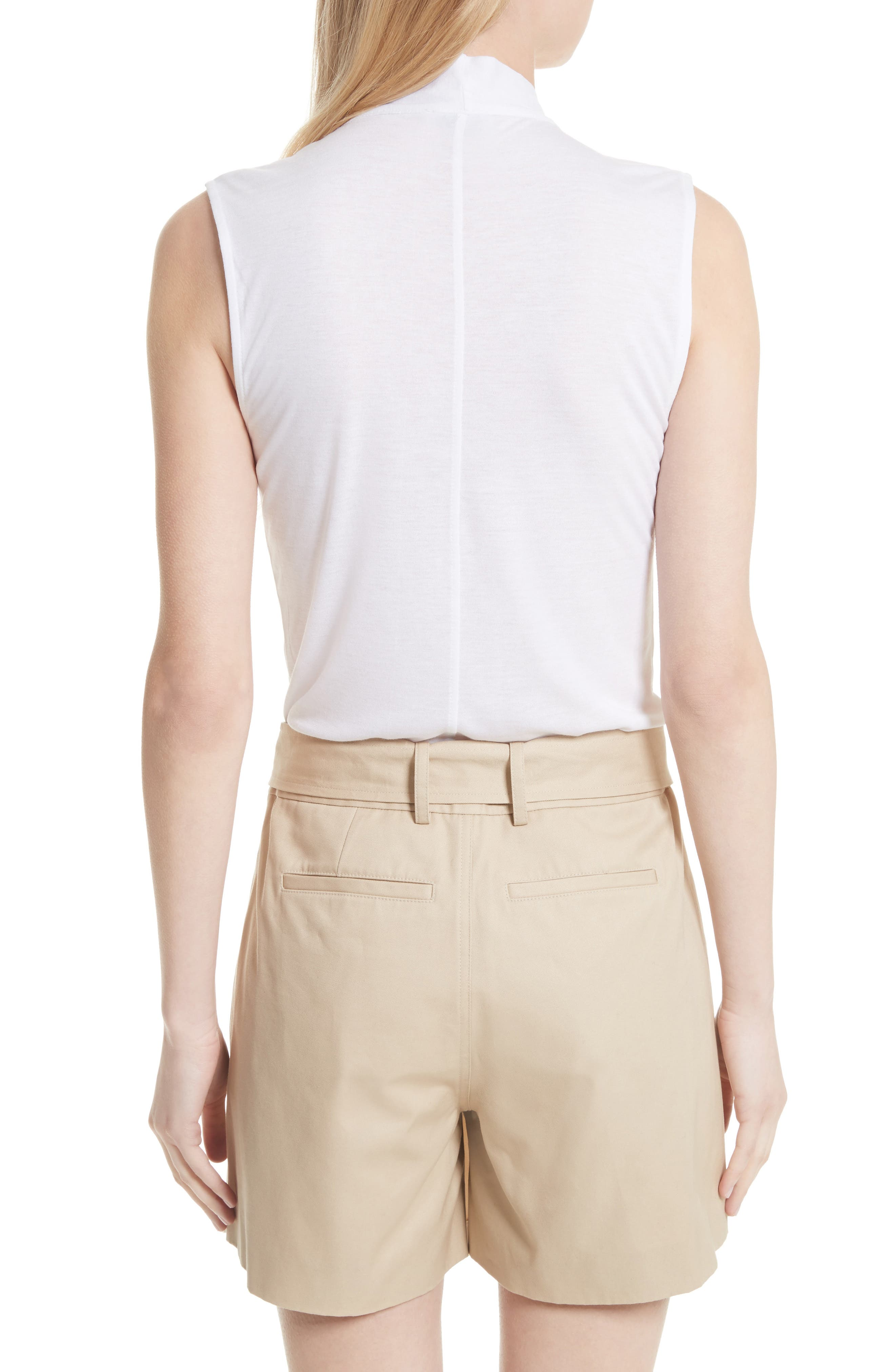 Alternate Image 2  - FRAME Sleeveless Tie Neck Blouse