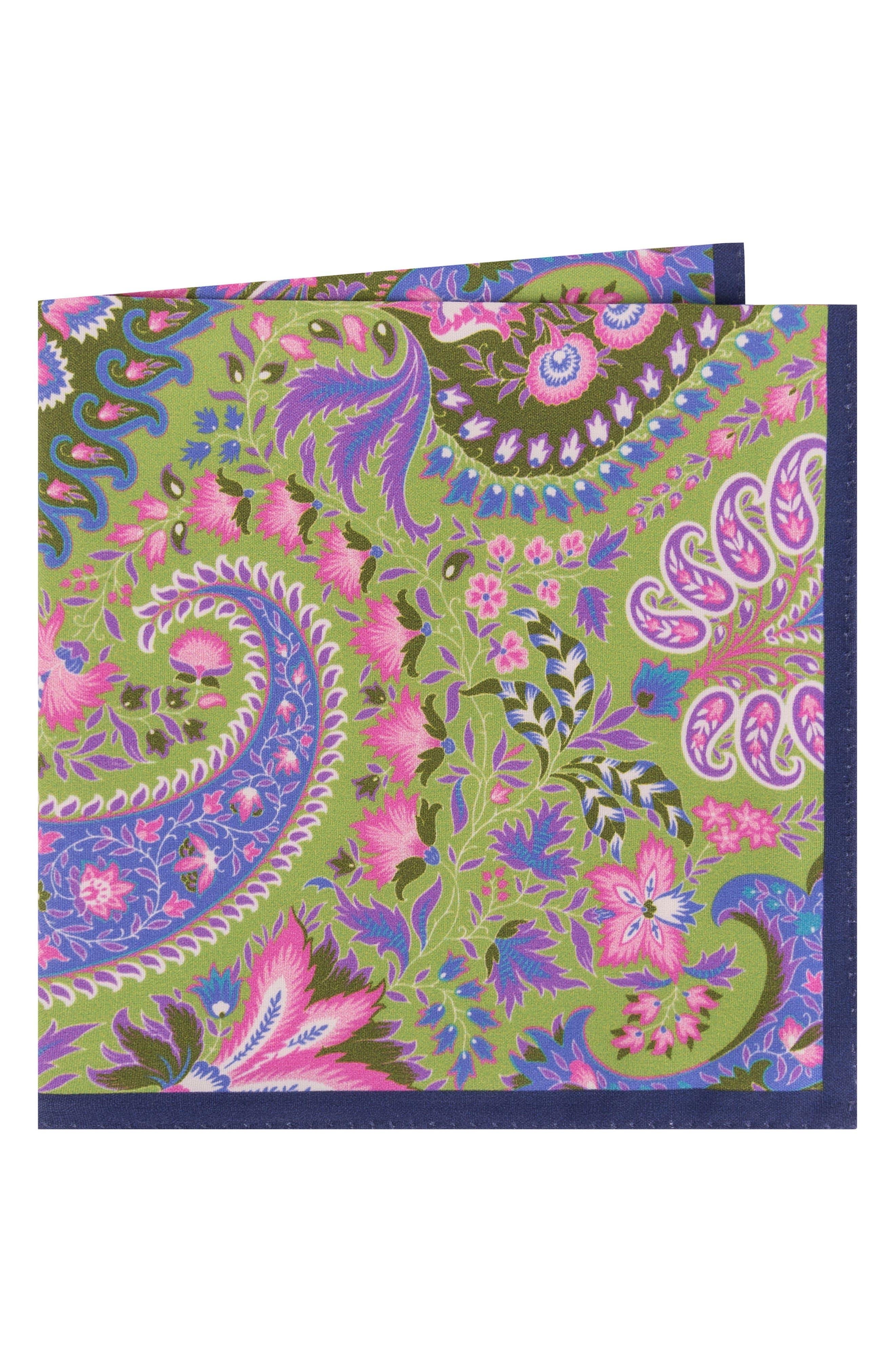 Ted Baker London Provence Paisley Silk Pocket Square