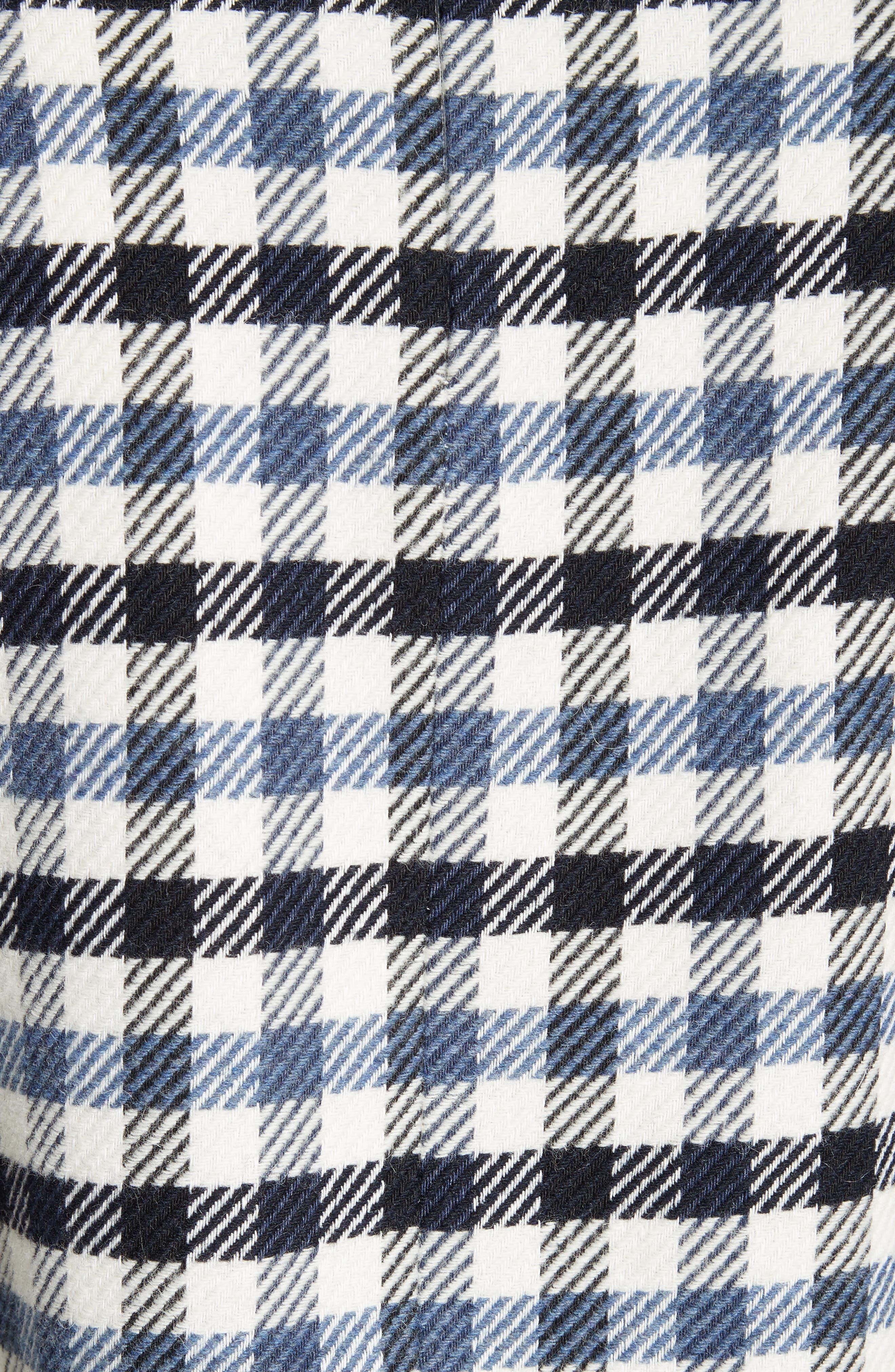 Fairfax Gingham Tie Sleeve Crop Top,                             Alternate thumbnail 5, color,                             Blue Multi