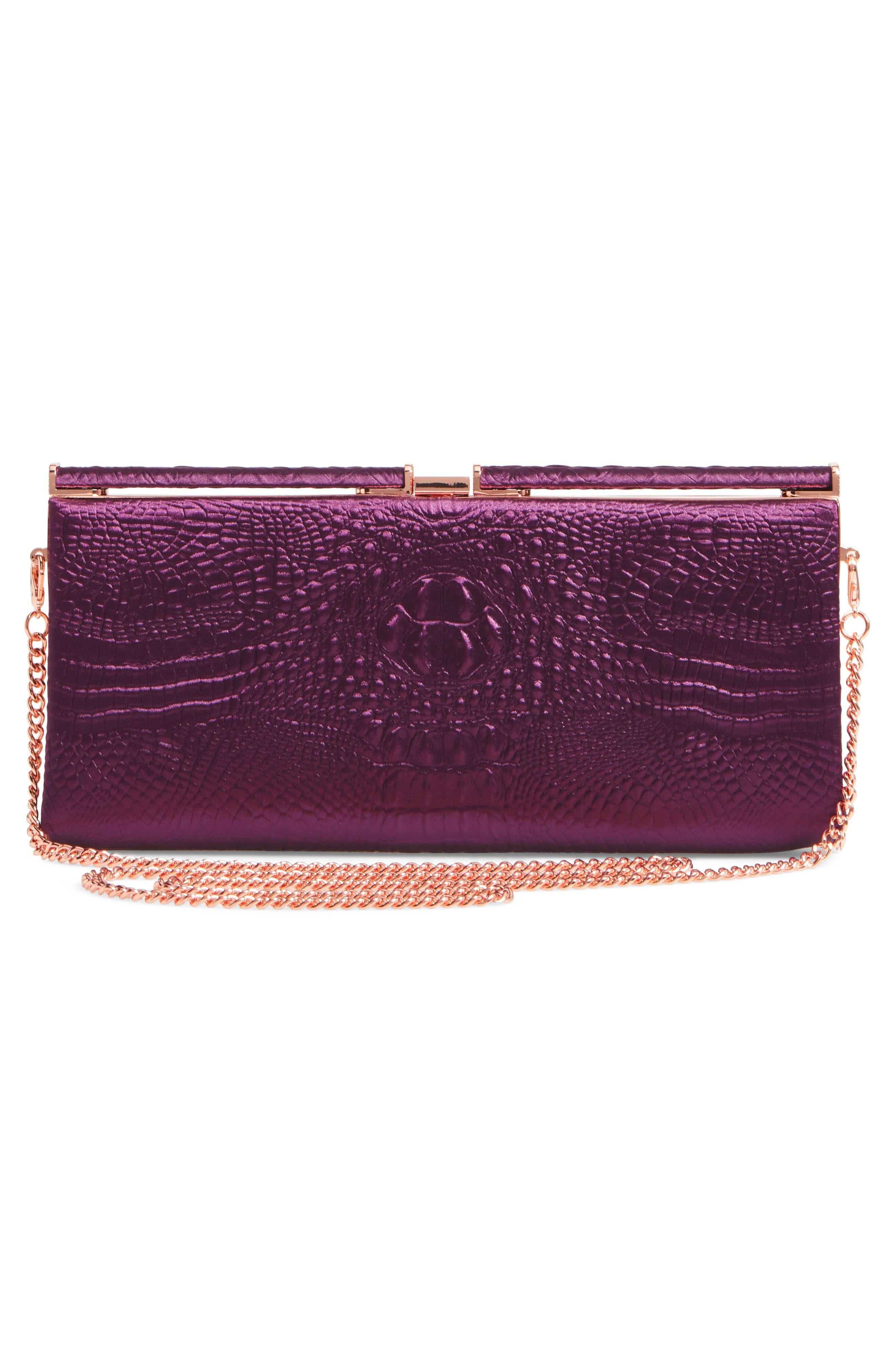 Alternate Image 2  - Ted Baker Darciee Embossed Frame Clutch