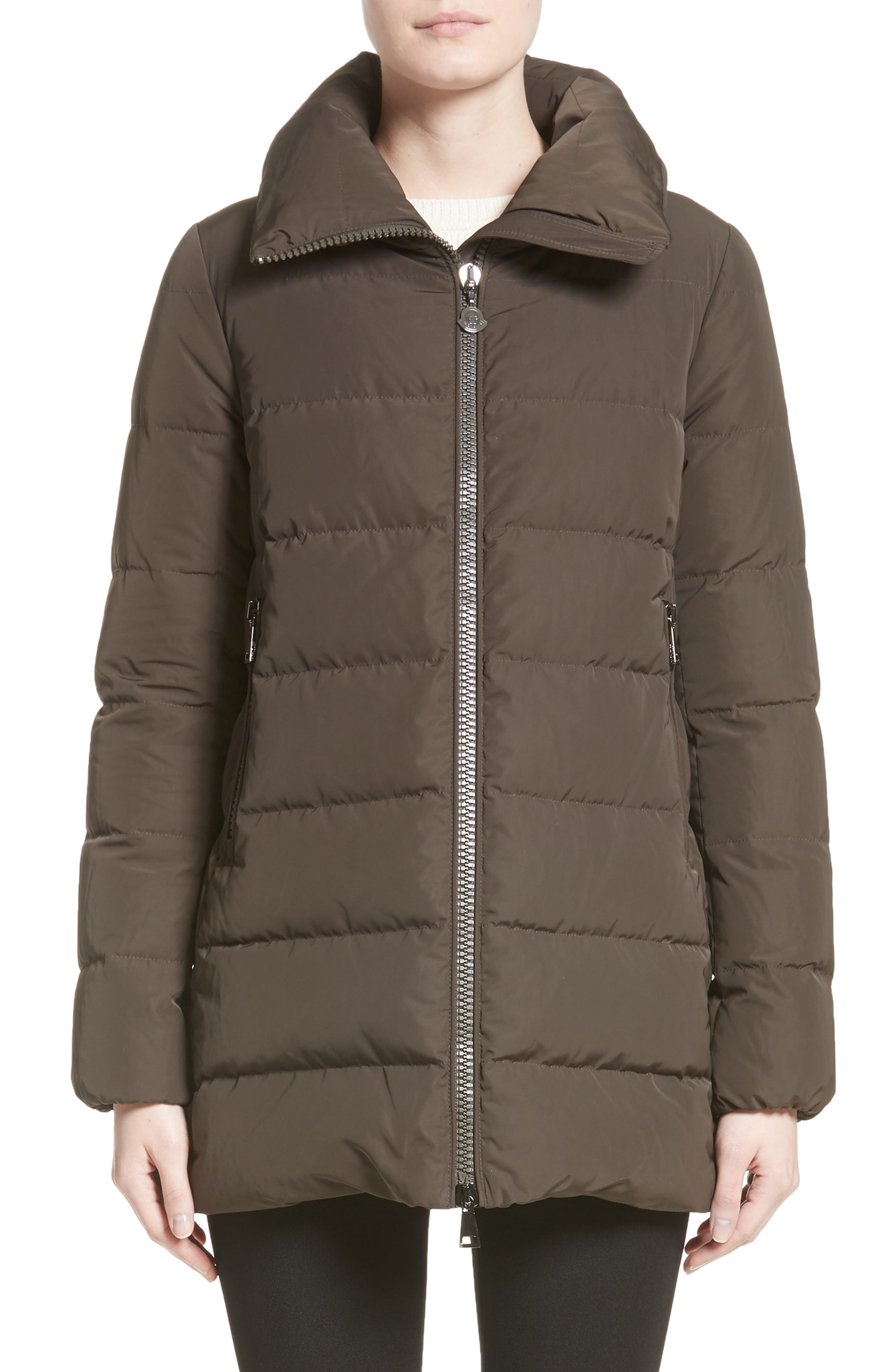 Petrea Quilted Down Puffer Jacket,                         Main,                         color, Olive
