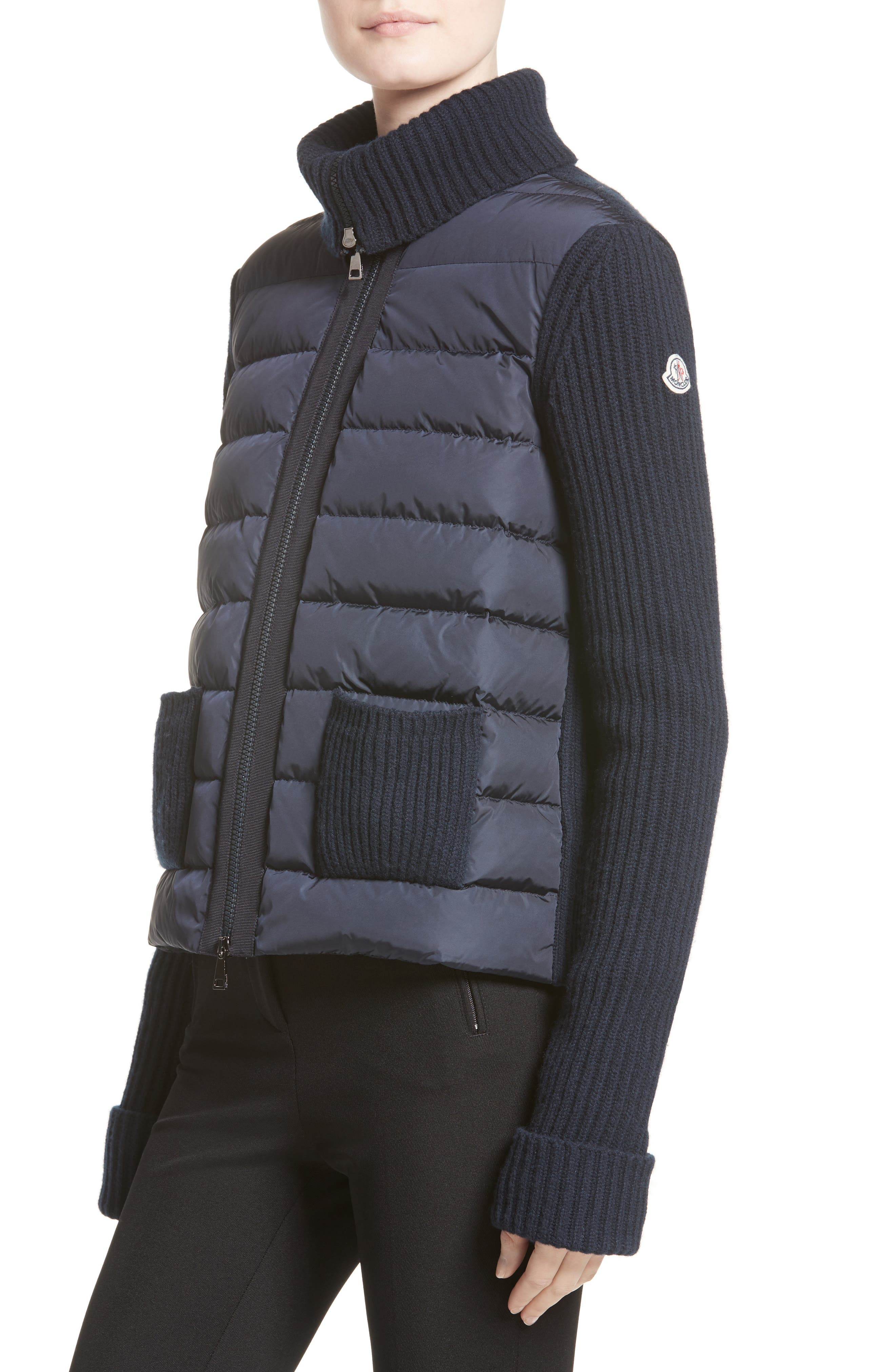 Alternate Image 4  - Moncler Ciclista Quilted Down Front Sweater Jacket