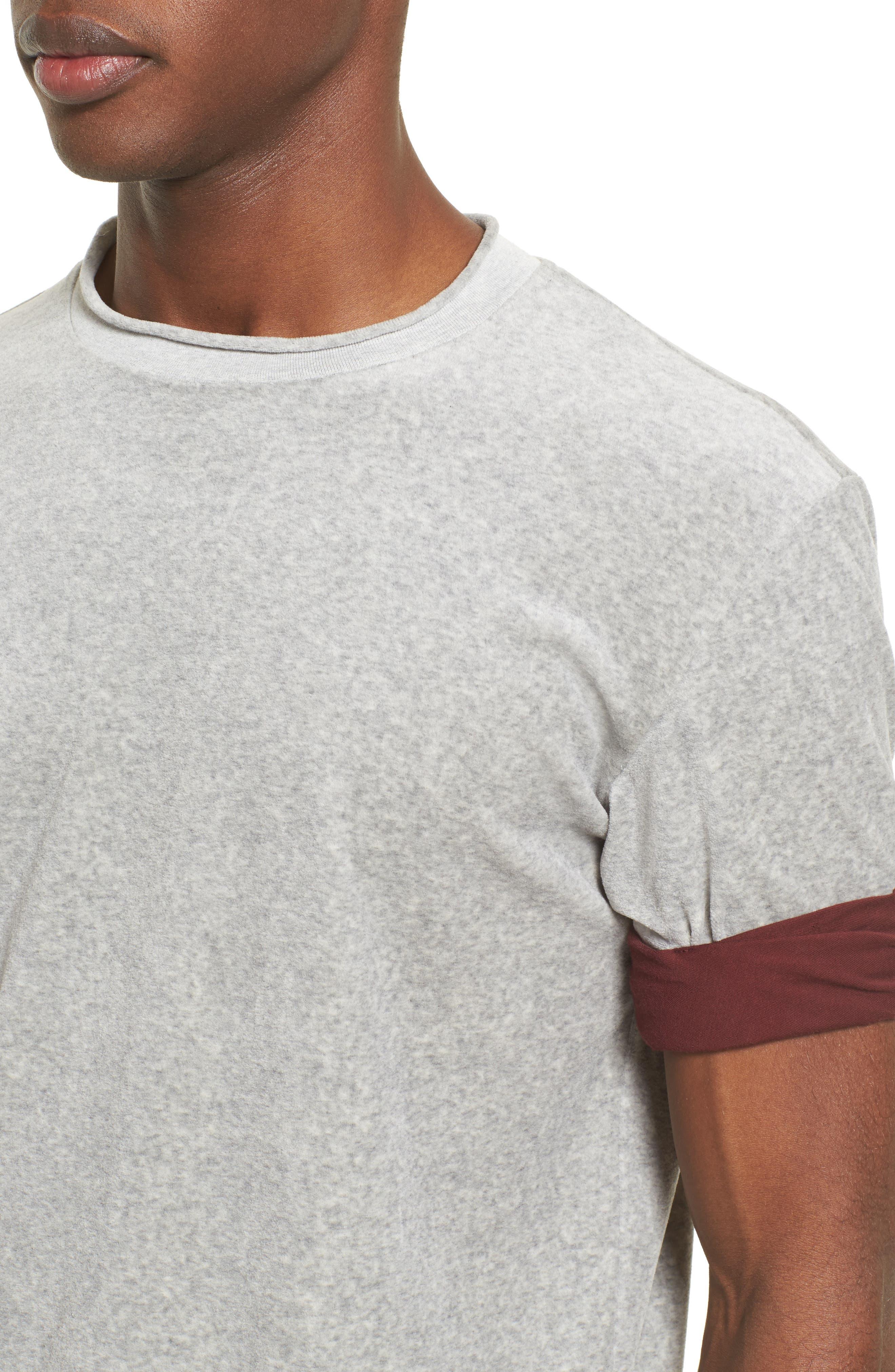 Alternate Image 4  - 3.1 Phillip Lim Velour Crewneck T-Shirt