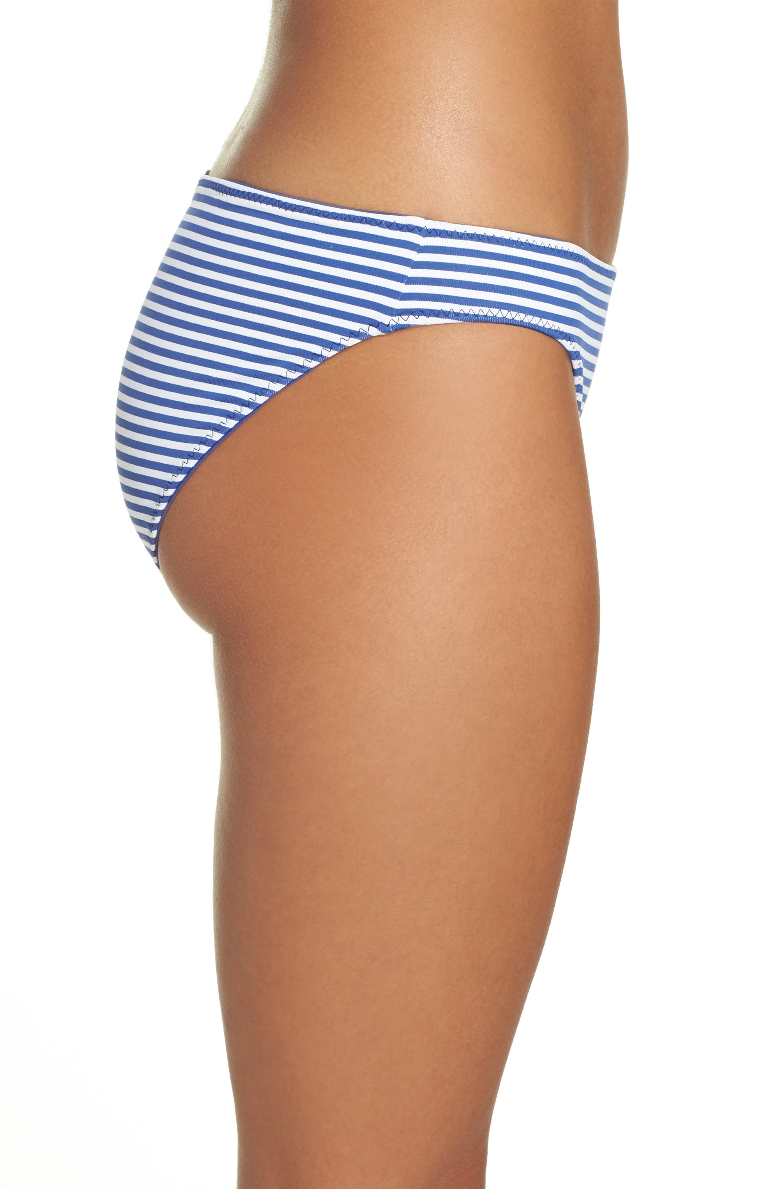 Reversible Hipster Bikini Bottoms,                             Alternate thumbnail 4, color,                             Dark Blue