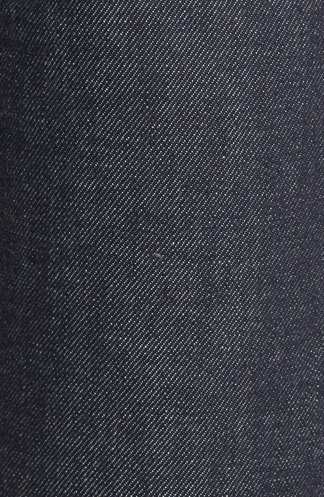 High Waist Standard Selvedge Jeans,                             Alternate thumbnail 5, color,                             Indigo